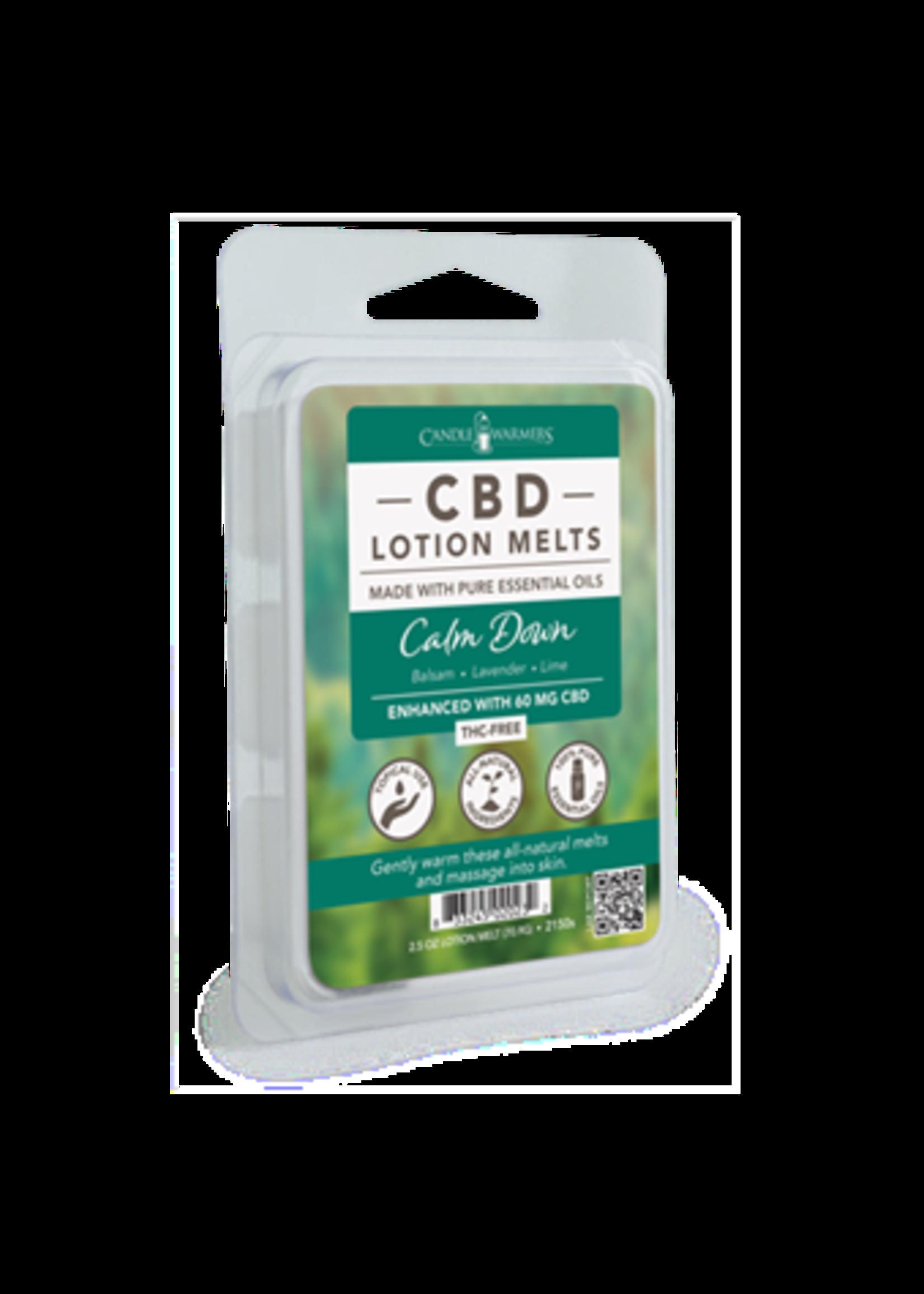 Candles Warmers Etc CBD Lotion Wax Melt Calm Down 2.5oz