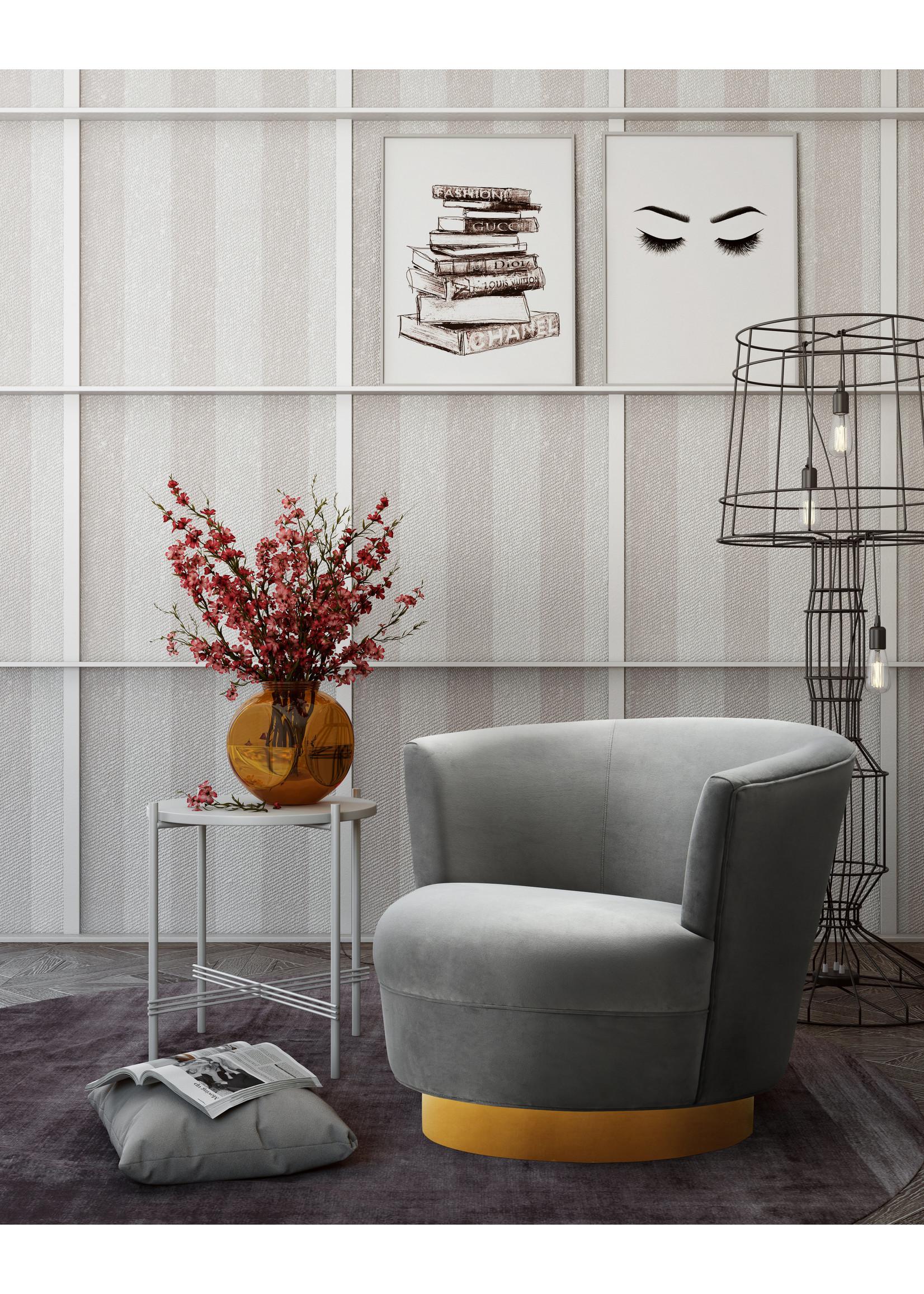 TOV Noah Grey Swivel Chair