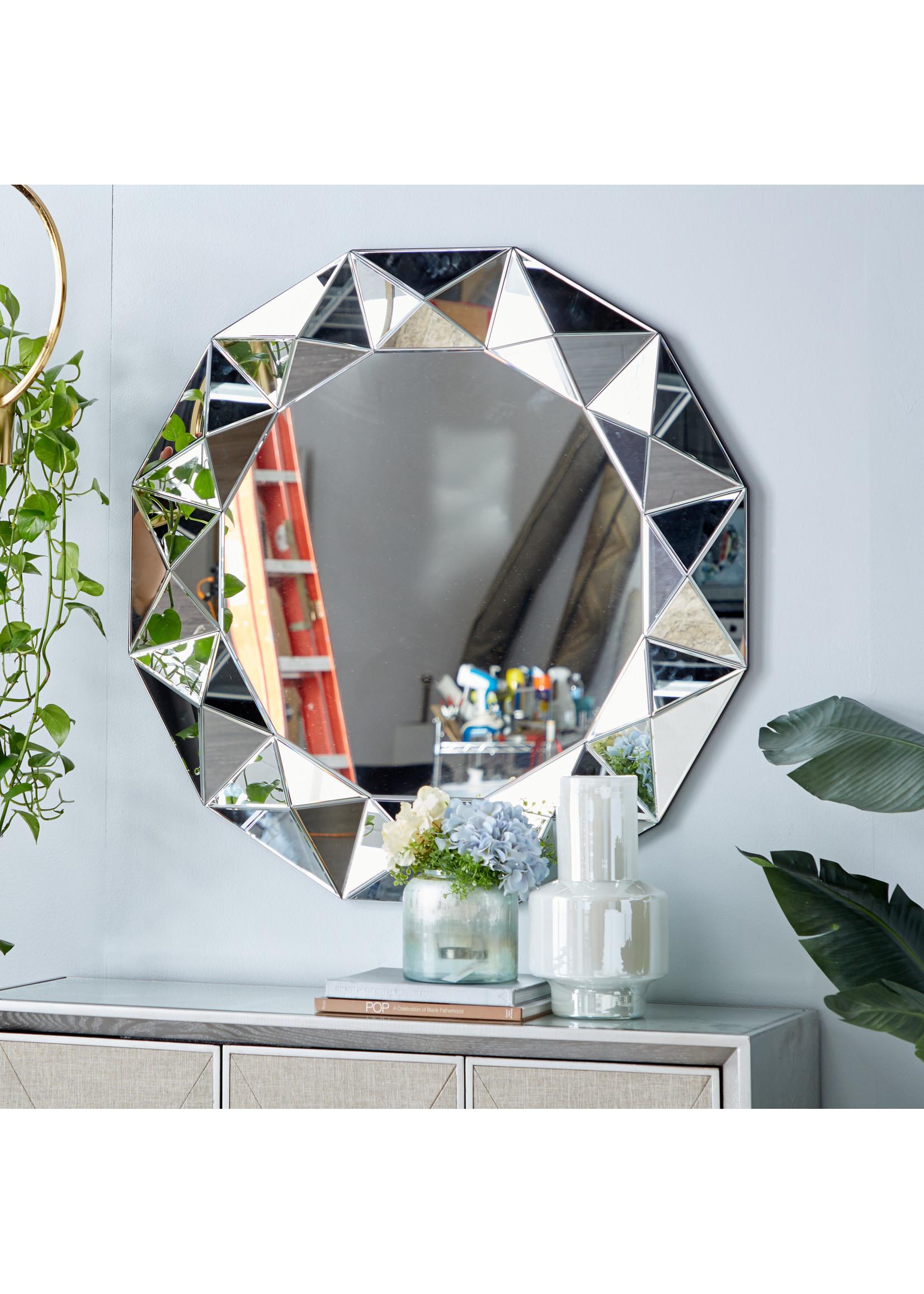 "UMA Enterprises Glass Wood Wall Mirror 40"""