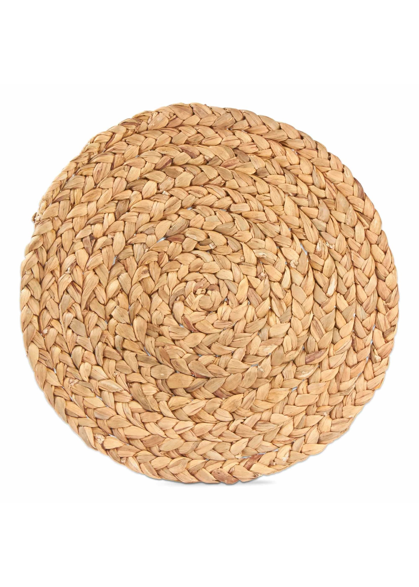 Tag Braided Water Hyacinth Round Placemat- Natural