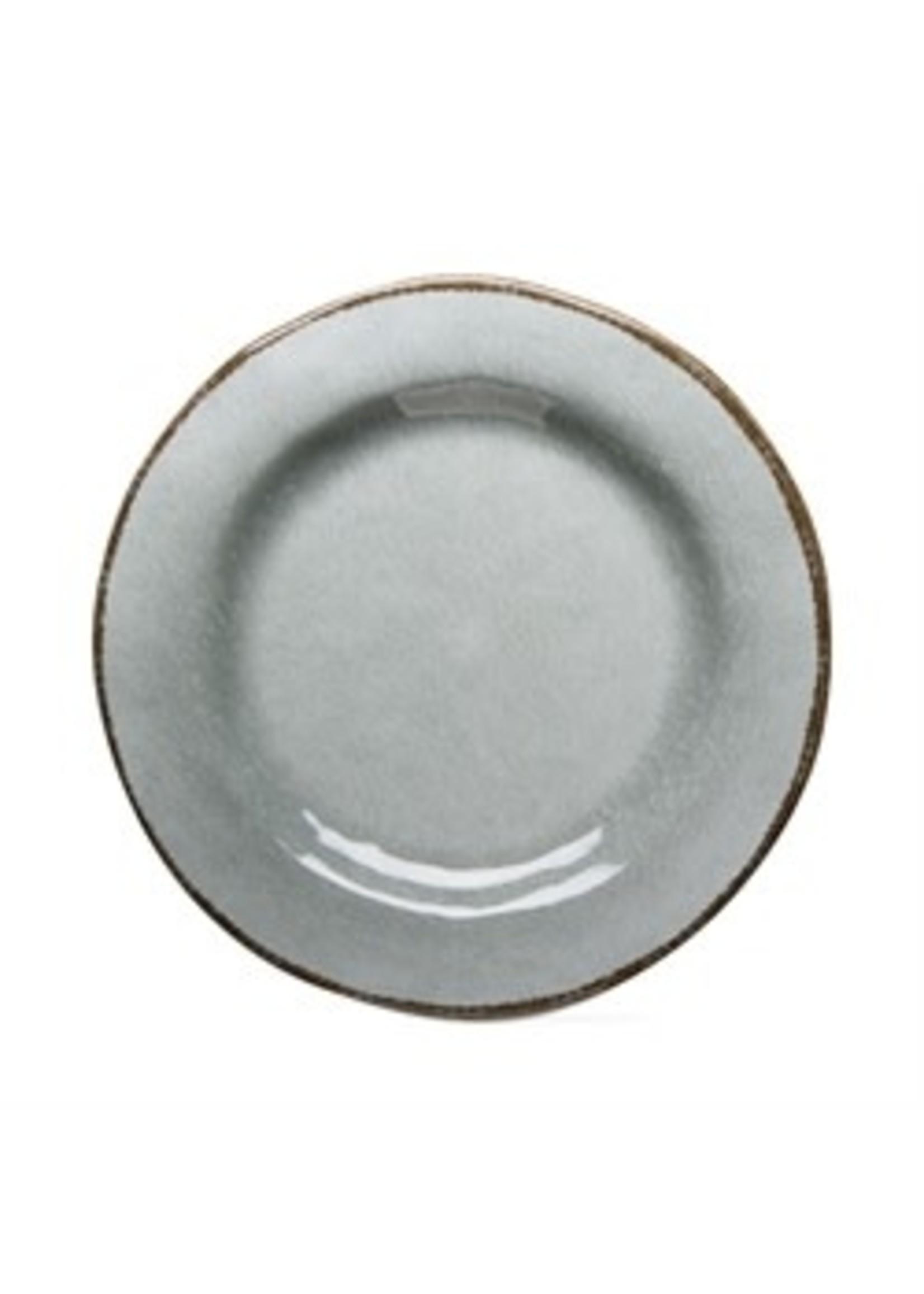 Tag Veranda Melamine Dinner Plate - Slate Blue