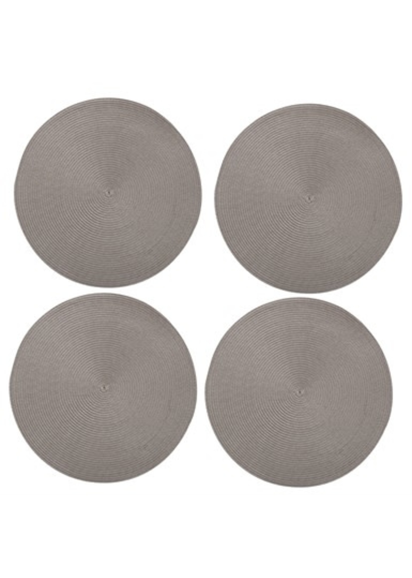 Tag Round Woven Placemats - Gray