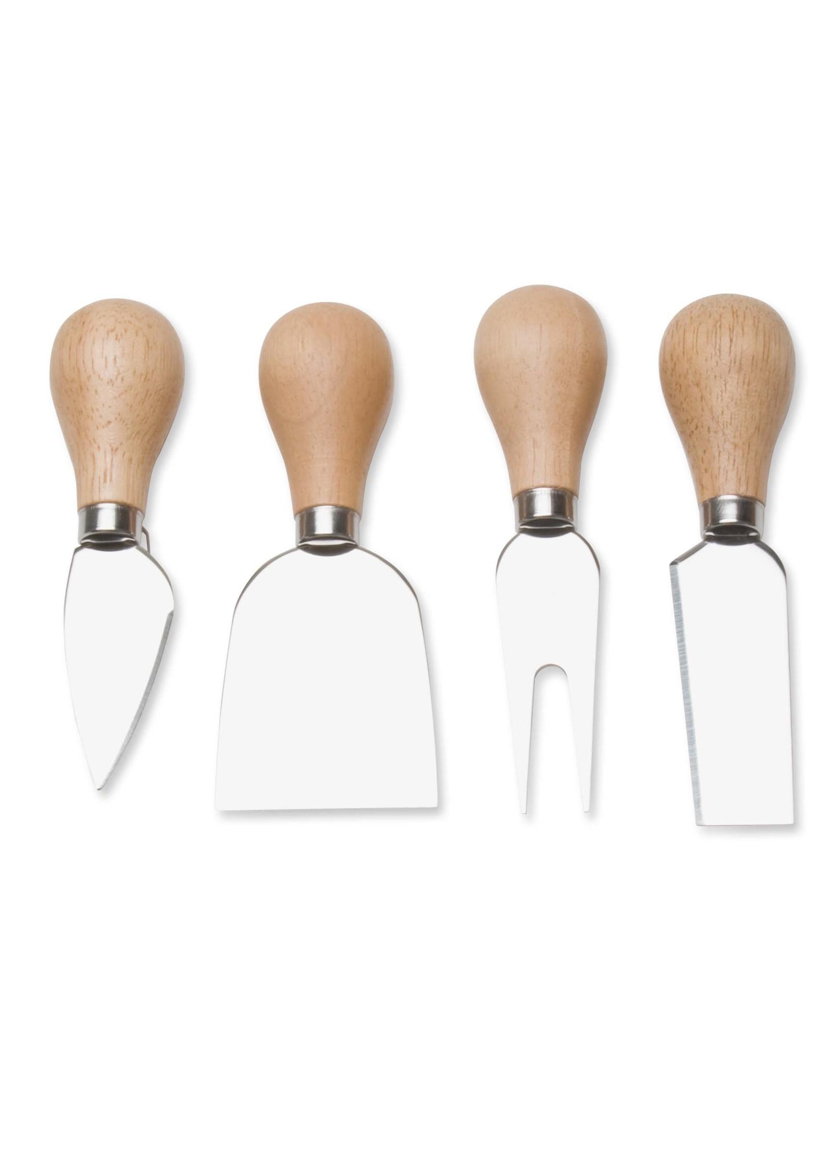 Tag natural handled cheese utensils set- Natural