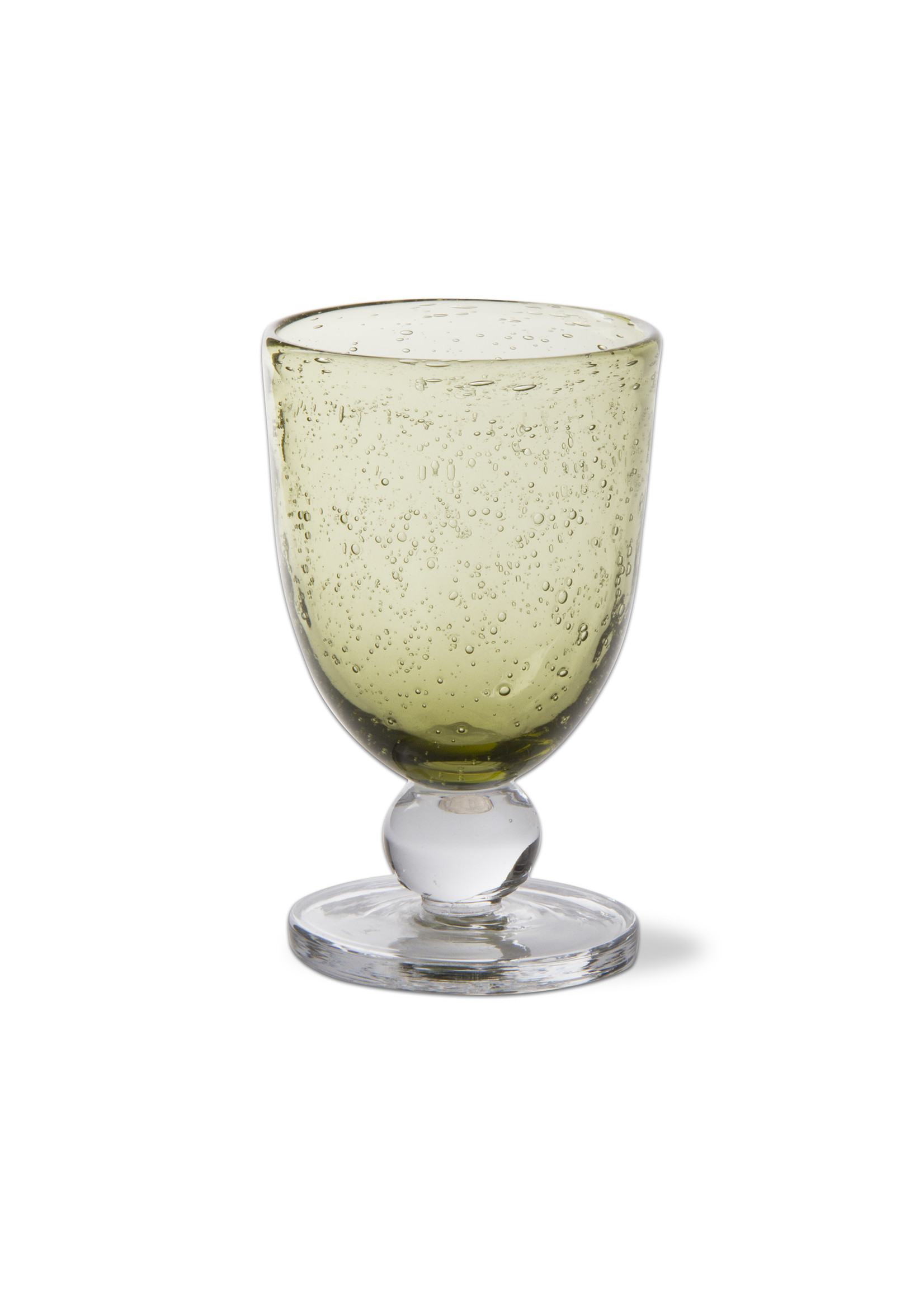 Tag Bubble Glass Goblet-Foliage