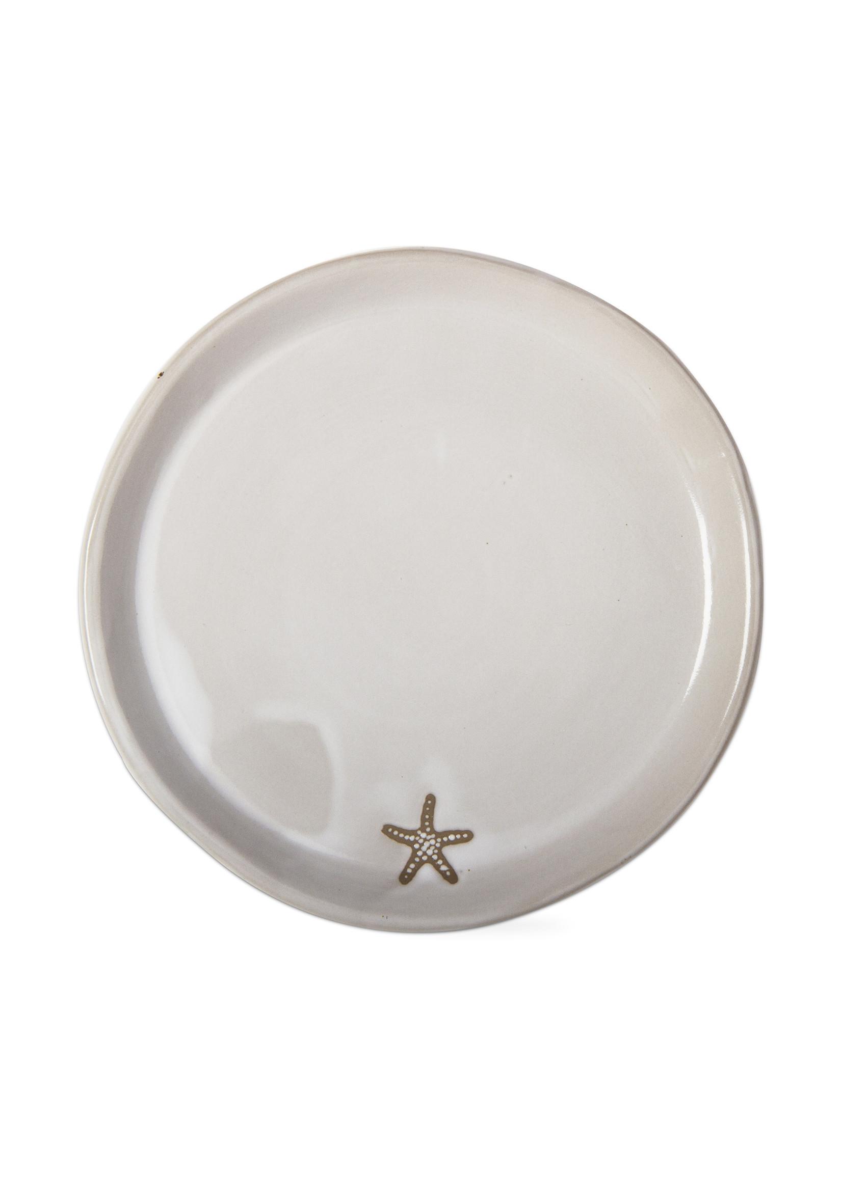 Tag Seashore Seastar Appetizer Plate-White