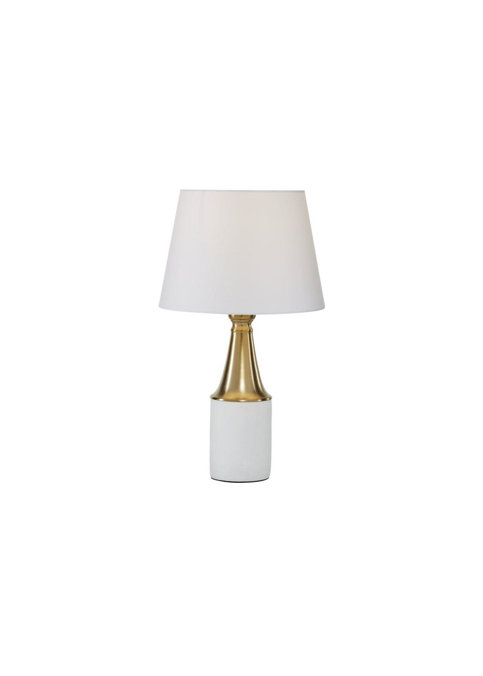 "UMA Enterprises UMA Mtl Cement Table Lamp 12""W 21""H"