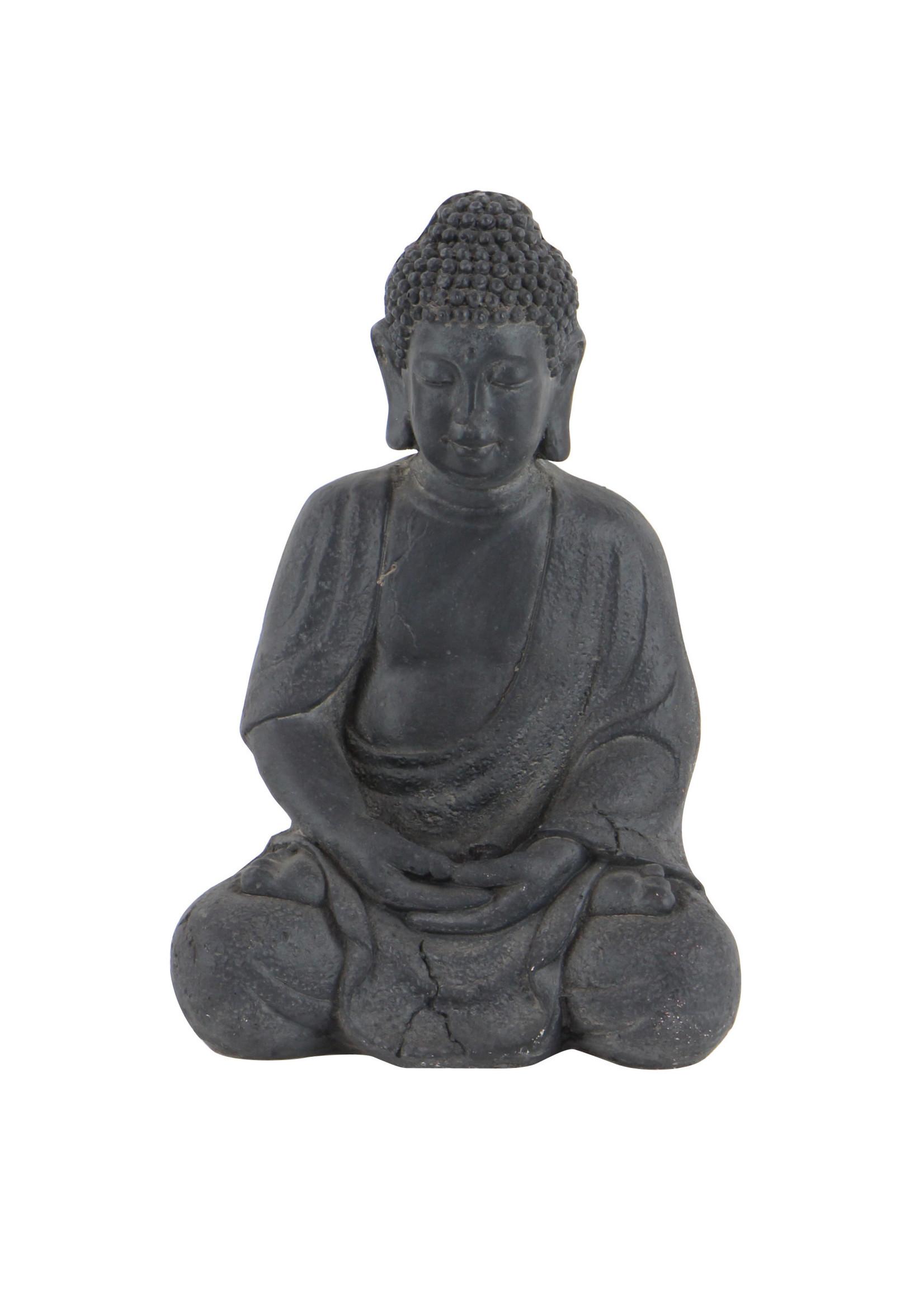 """UMA Enterprises UMA Fiber Stone Buddha 12""""H 8""""W"""