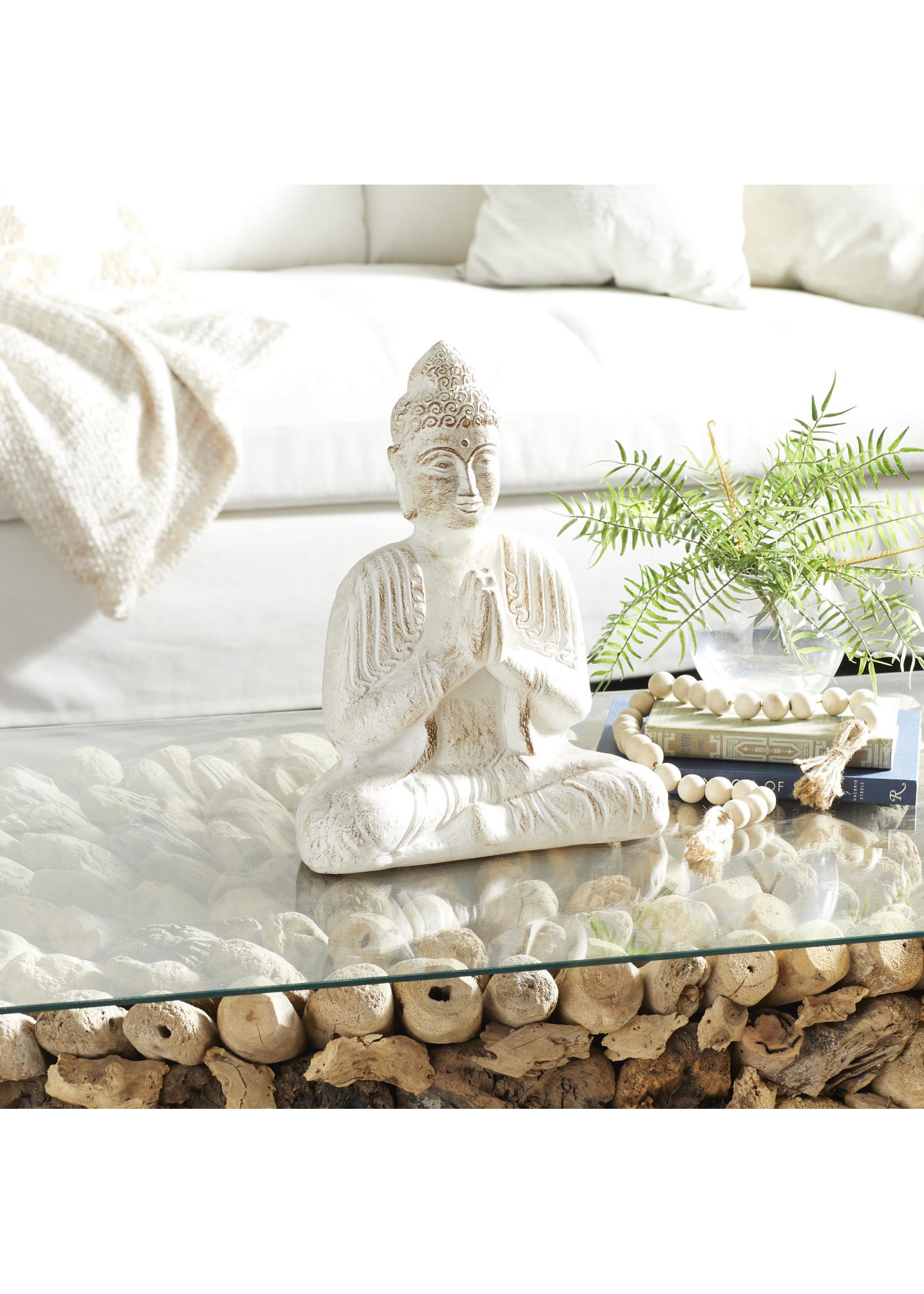 UMA Enterprises PPR Buddha 13 x 16 Wht