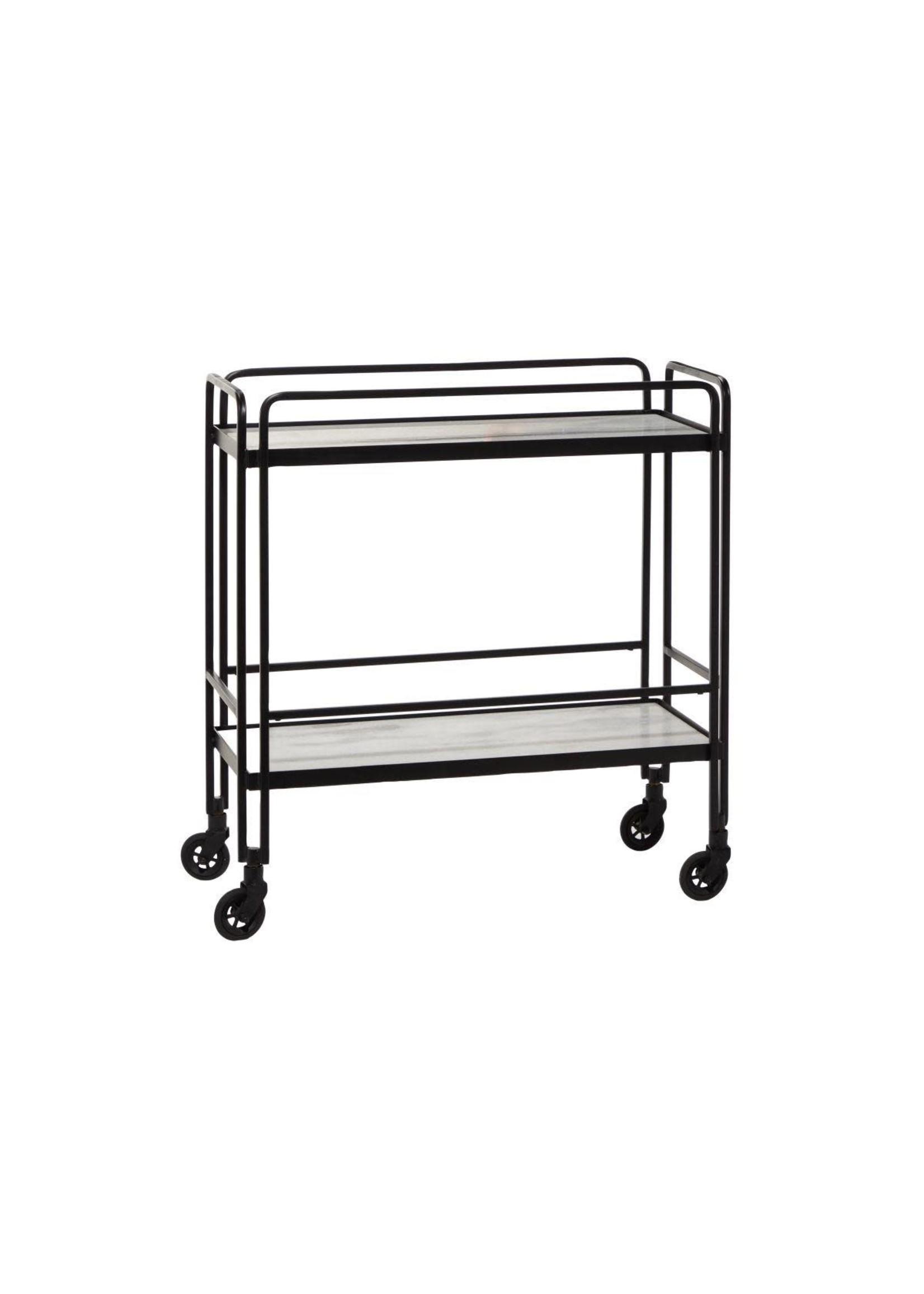 "UMA Enterprises UMA Mtl Marble Cart 29""W 31""H"