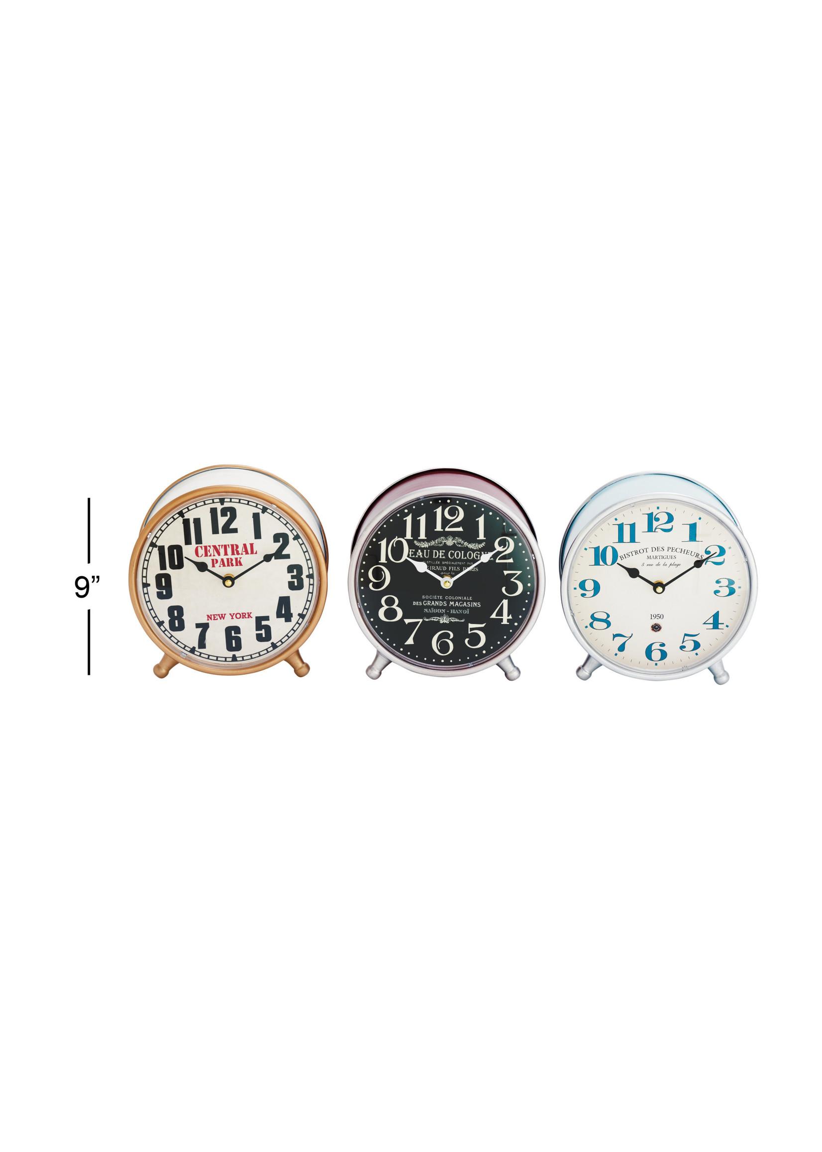"UMA Enterprises UMA Mtl Table Clock 9""H 9""W"
