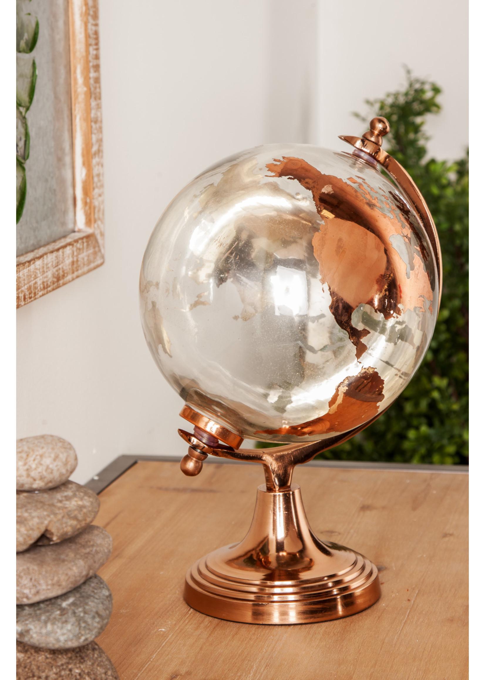 """UMA Enterprises UMA Alum Gls Globe Copper 8""""W 13""""H"""