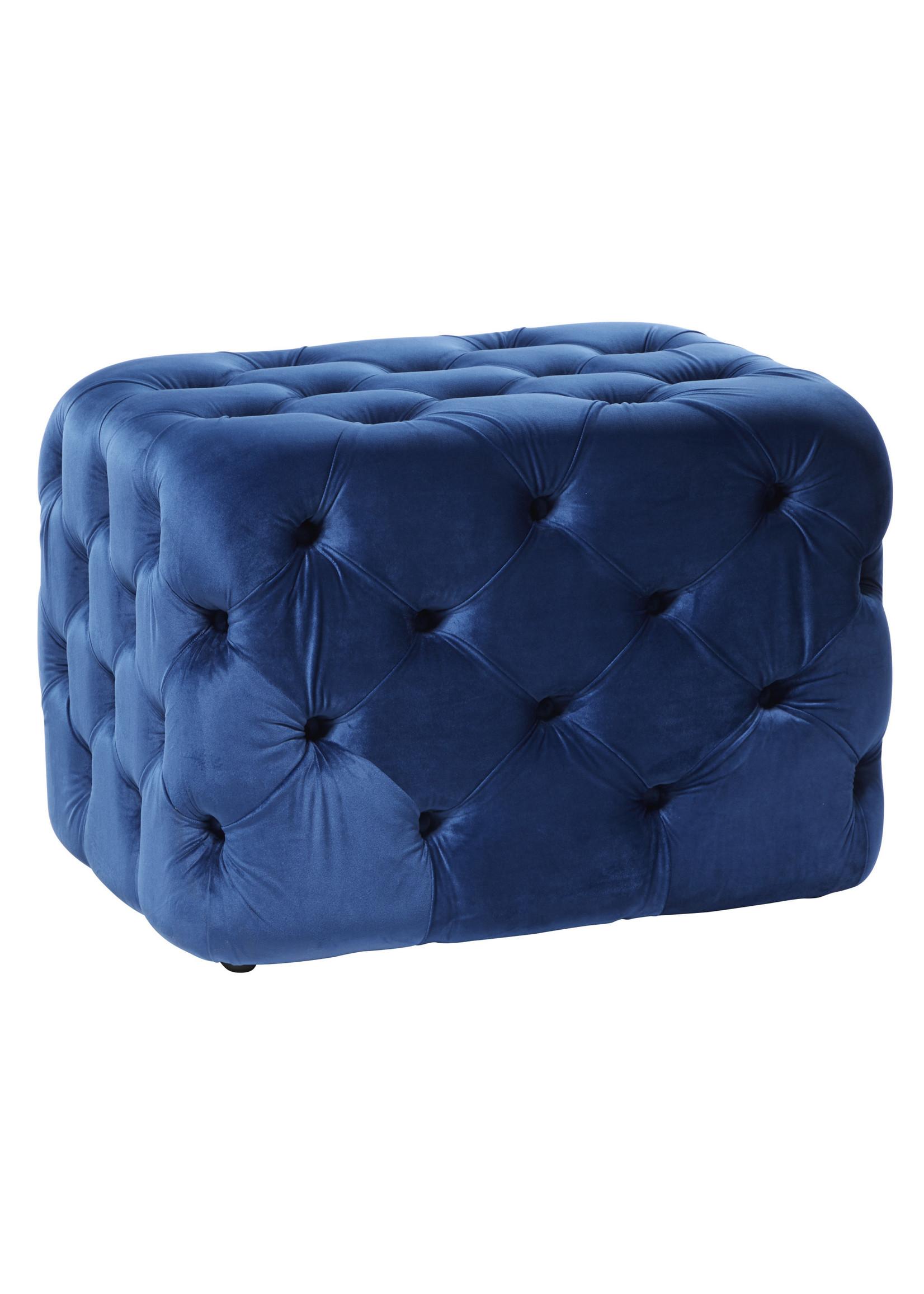 UMA Enterprises UMA INC Blue Velvet Ottoman