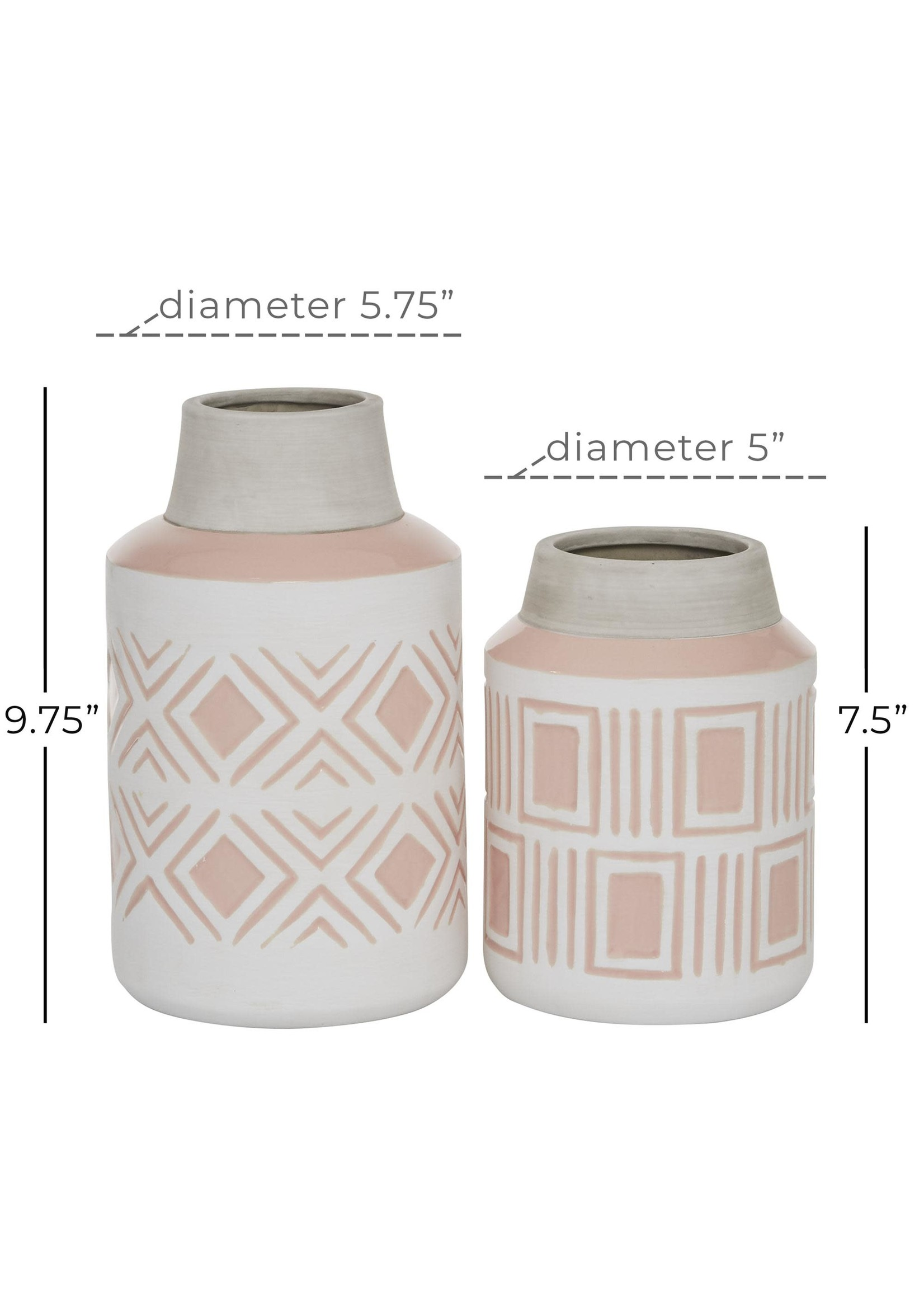 UMA Enterprises UMA Ceramic Vase S/2