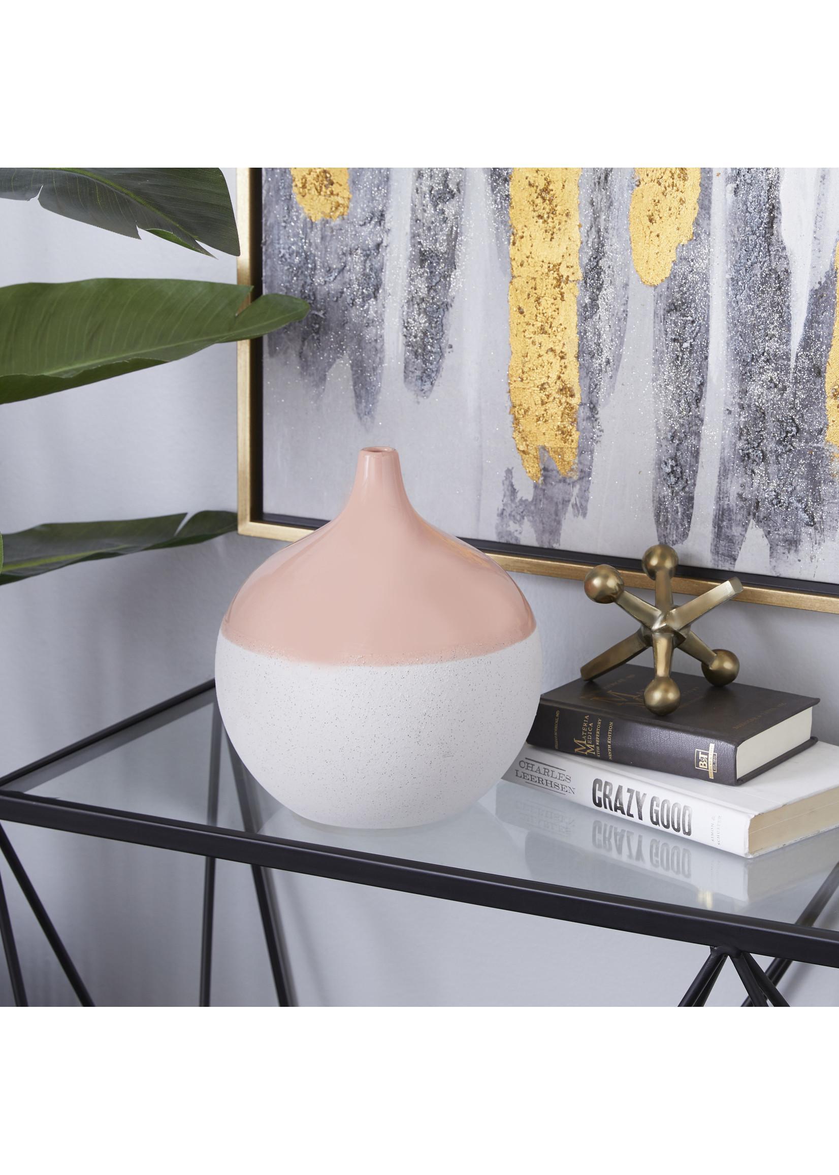 """UMA Enterprises UMA Ceramic Vase 9""""W 10""""H"""