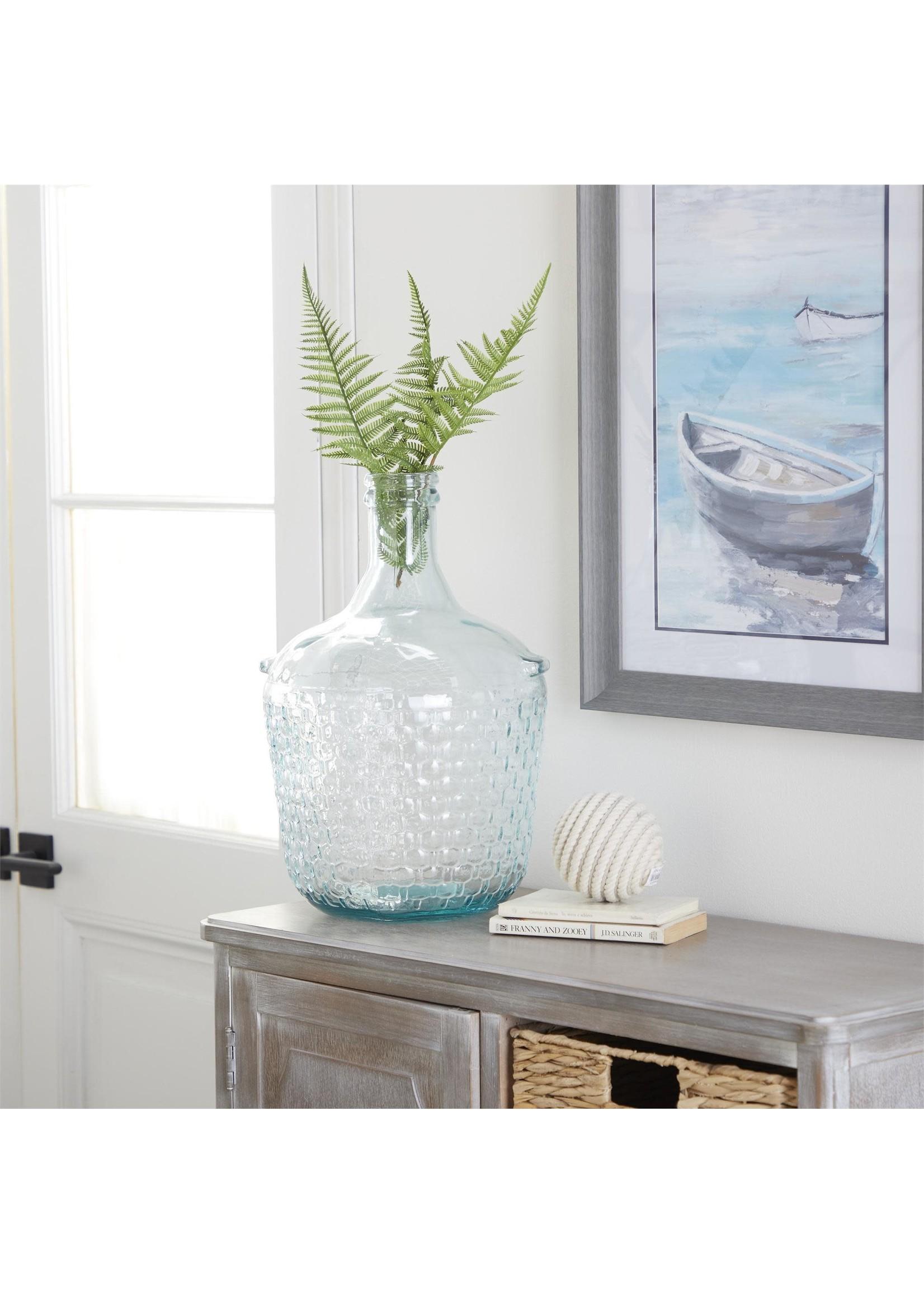 """UMA Enterprises UMA Glass Wide Neck Bottle Vase 10""""W 17""""H"""