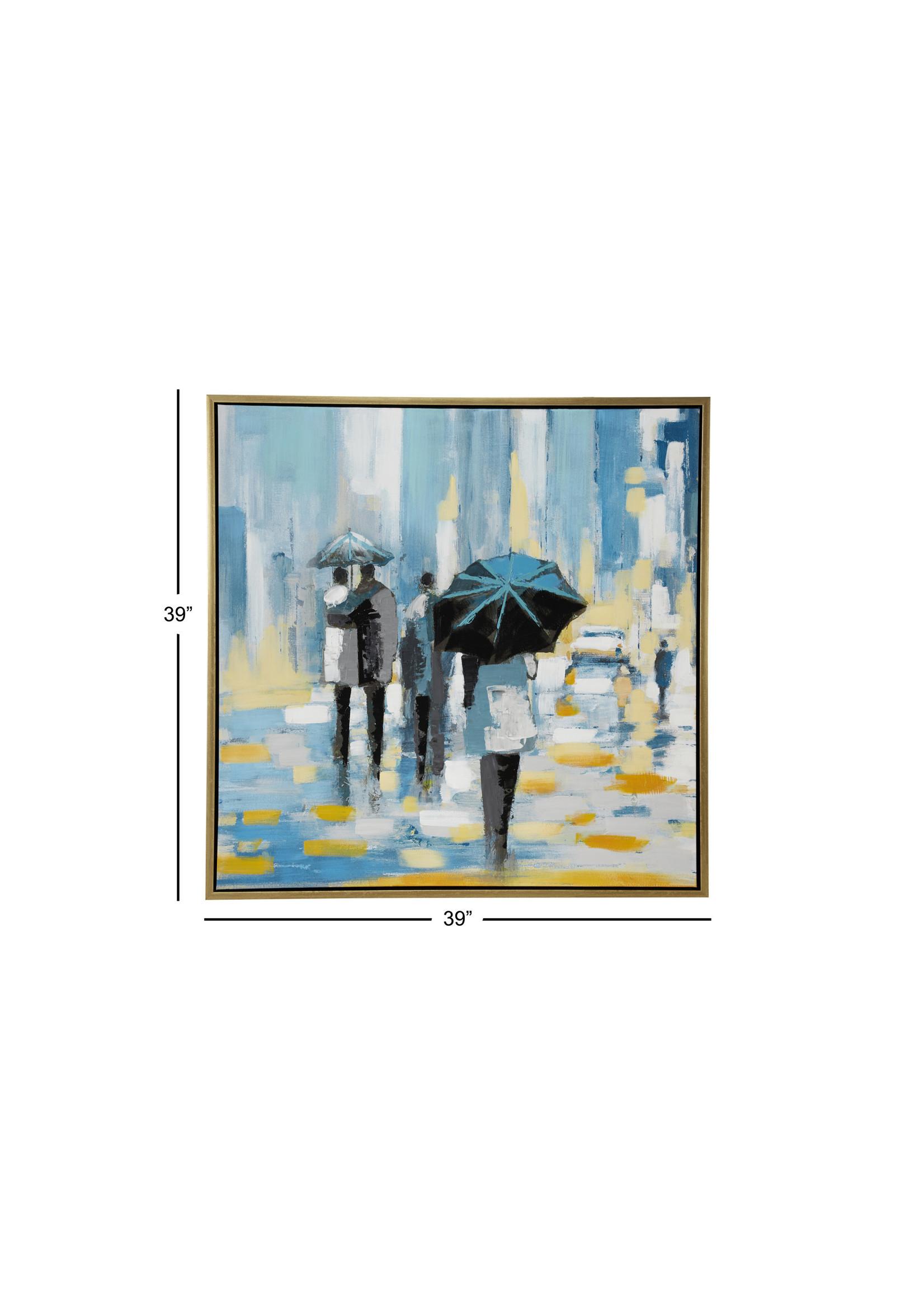 """UMA Enterprises UMA PS Wd Frmd Canvas Art 39""""H 39""""W"""