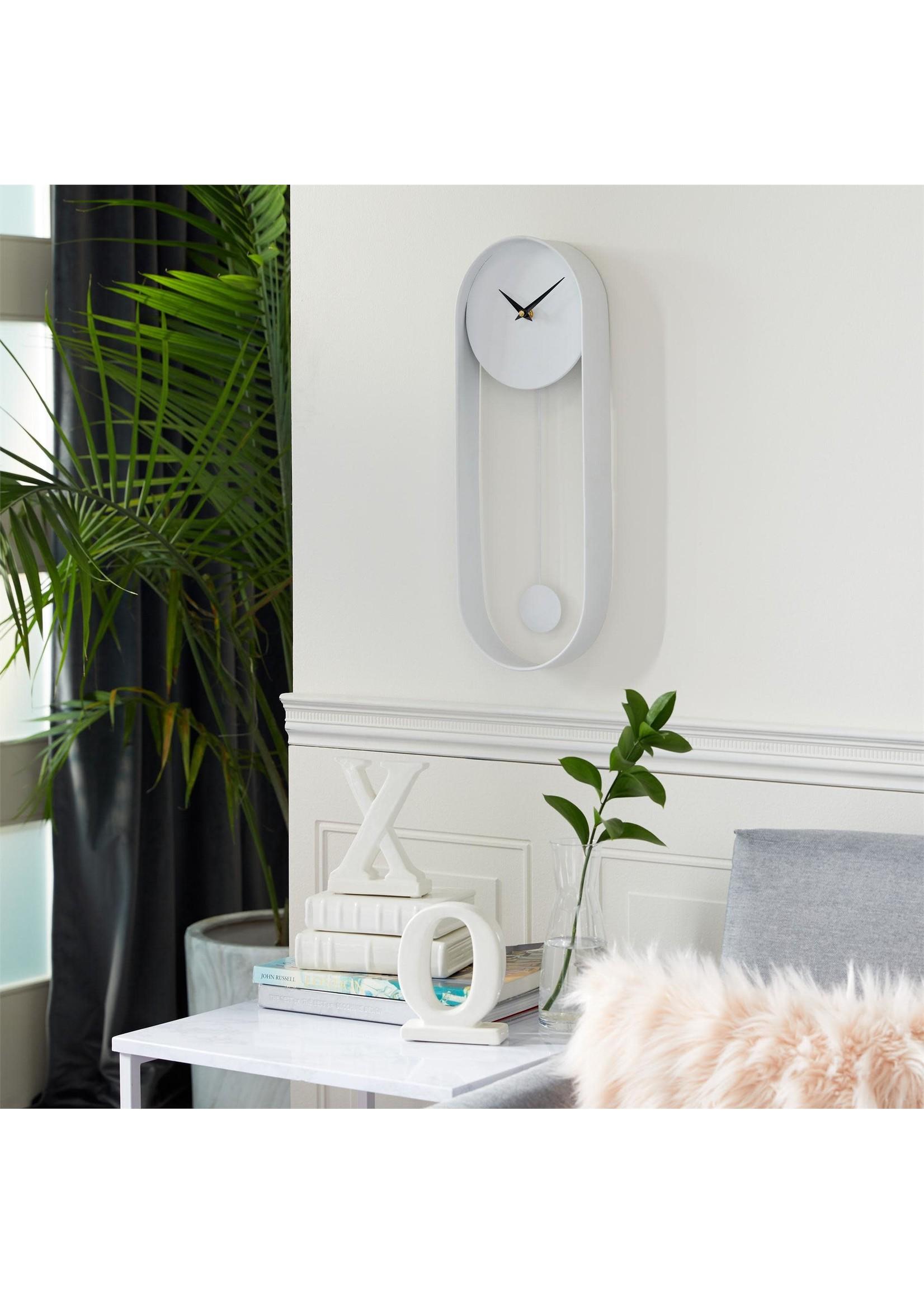 UMA Enterprises UMA Mtl Wall Clock White