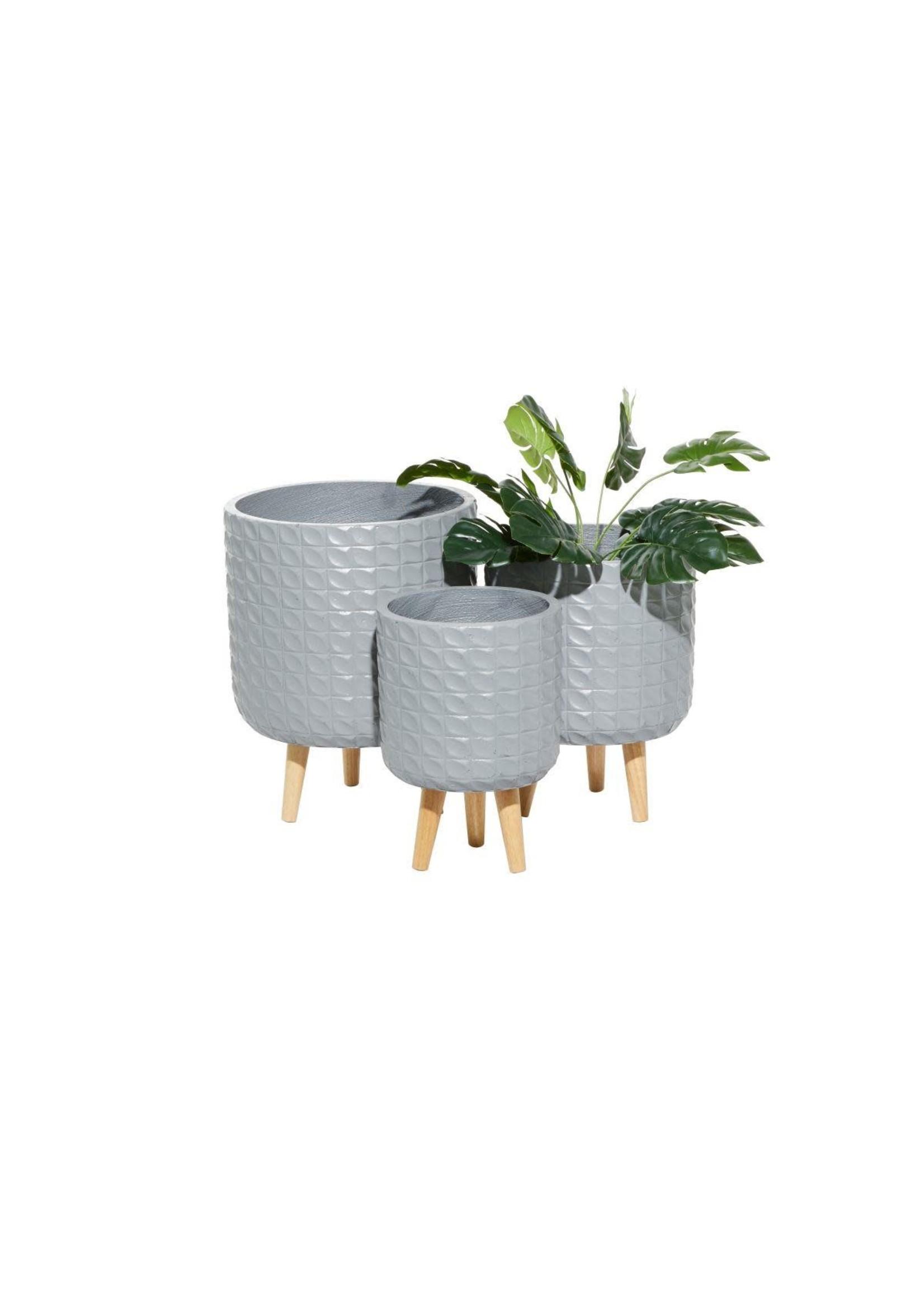 UMA Enterprises UMA MGO Wd Planter S/3 Grey