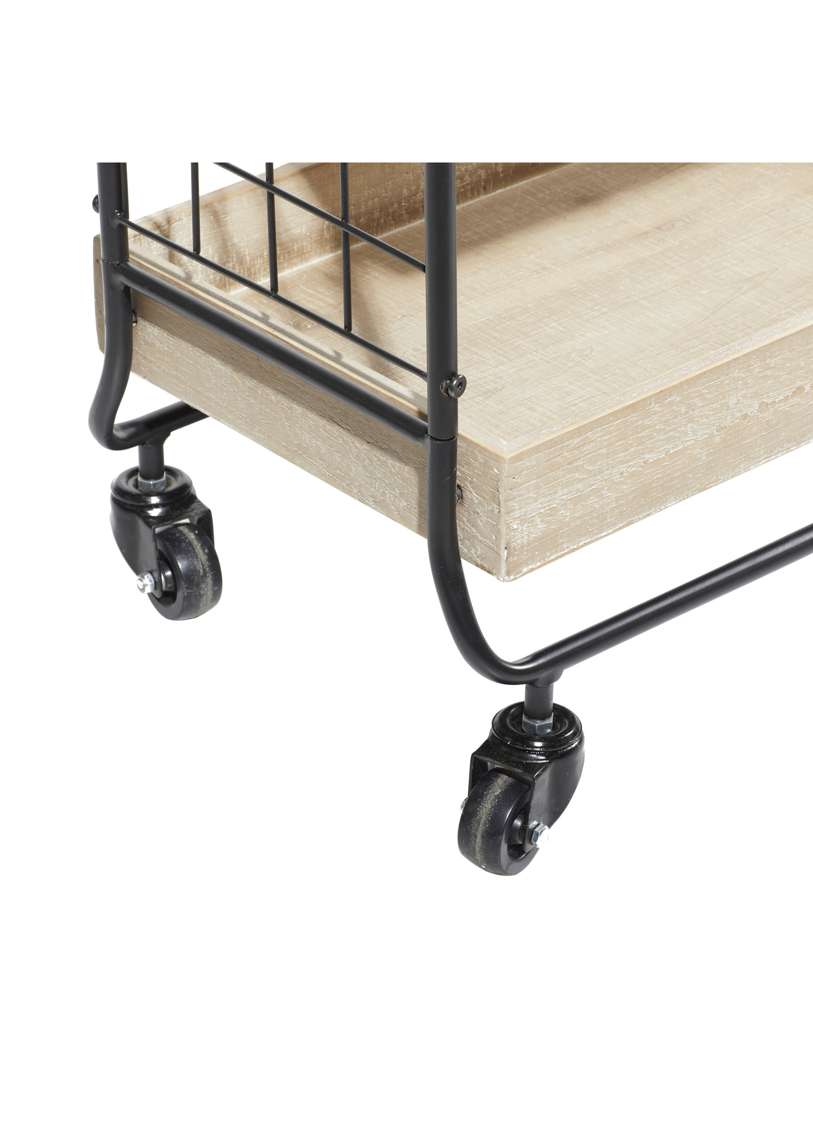 UMA Enterprises UMA Metal Wood Bar Cart