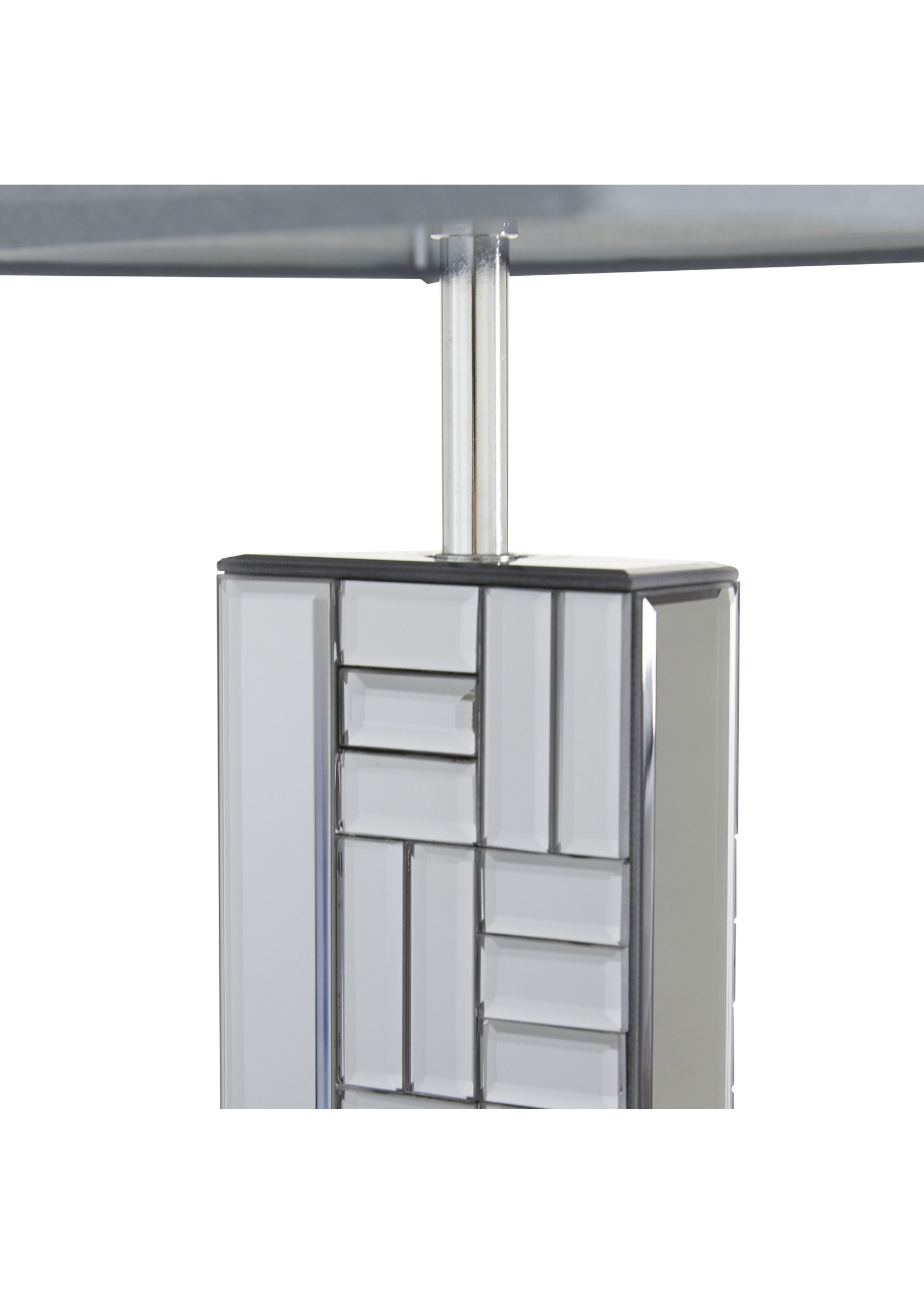 "UMA Enterprises UMA Glass Wood Table Lamp 30""H"