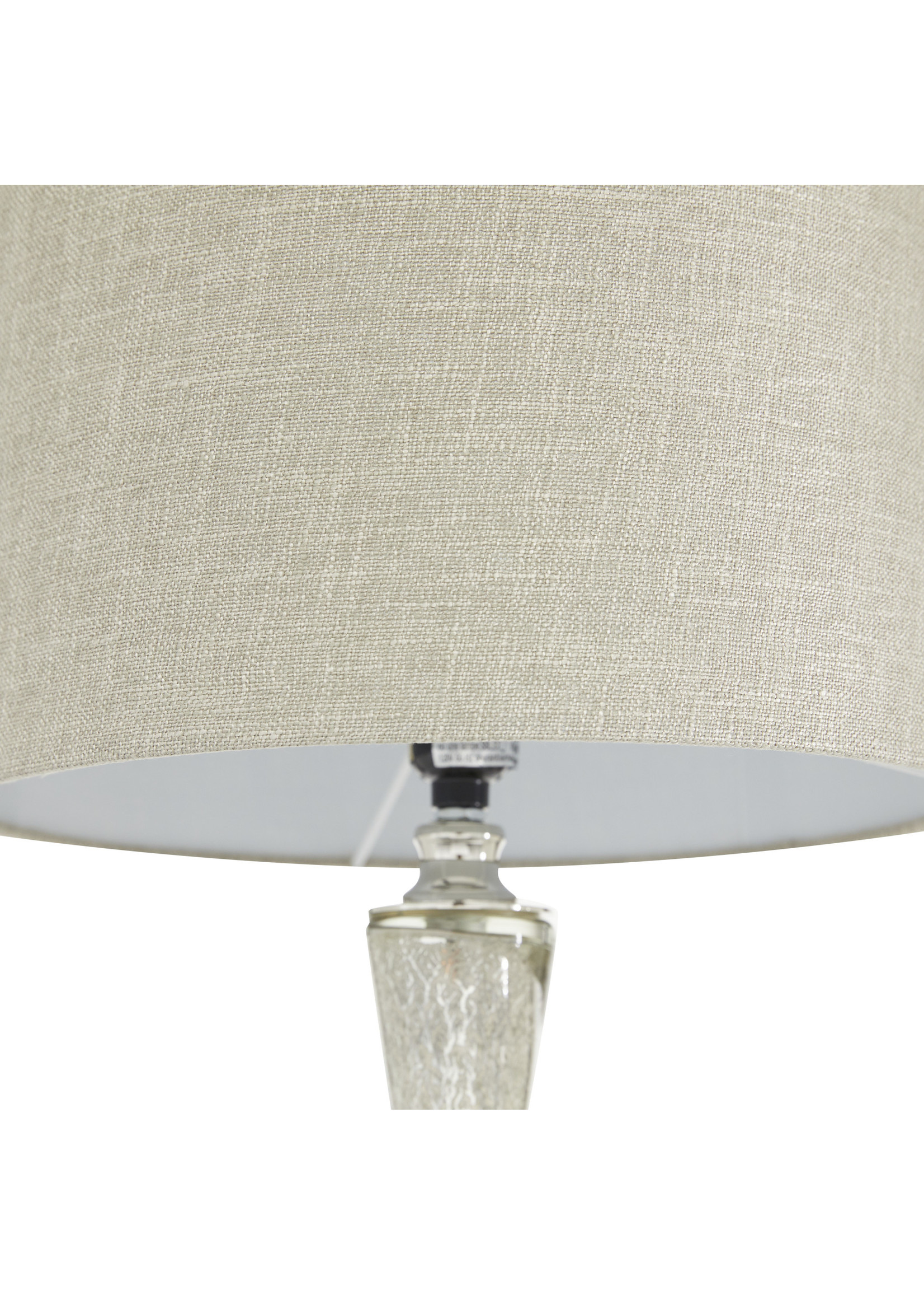 "UMA Enterprises UMA Glass Metal Table Lamp 14""W 27.5""H"