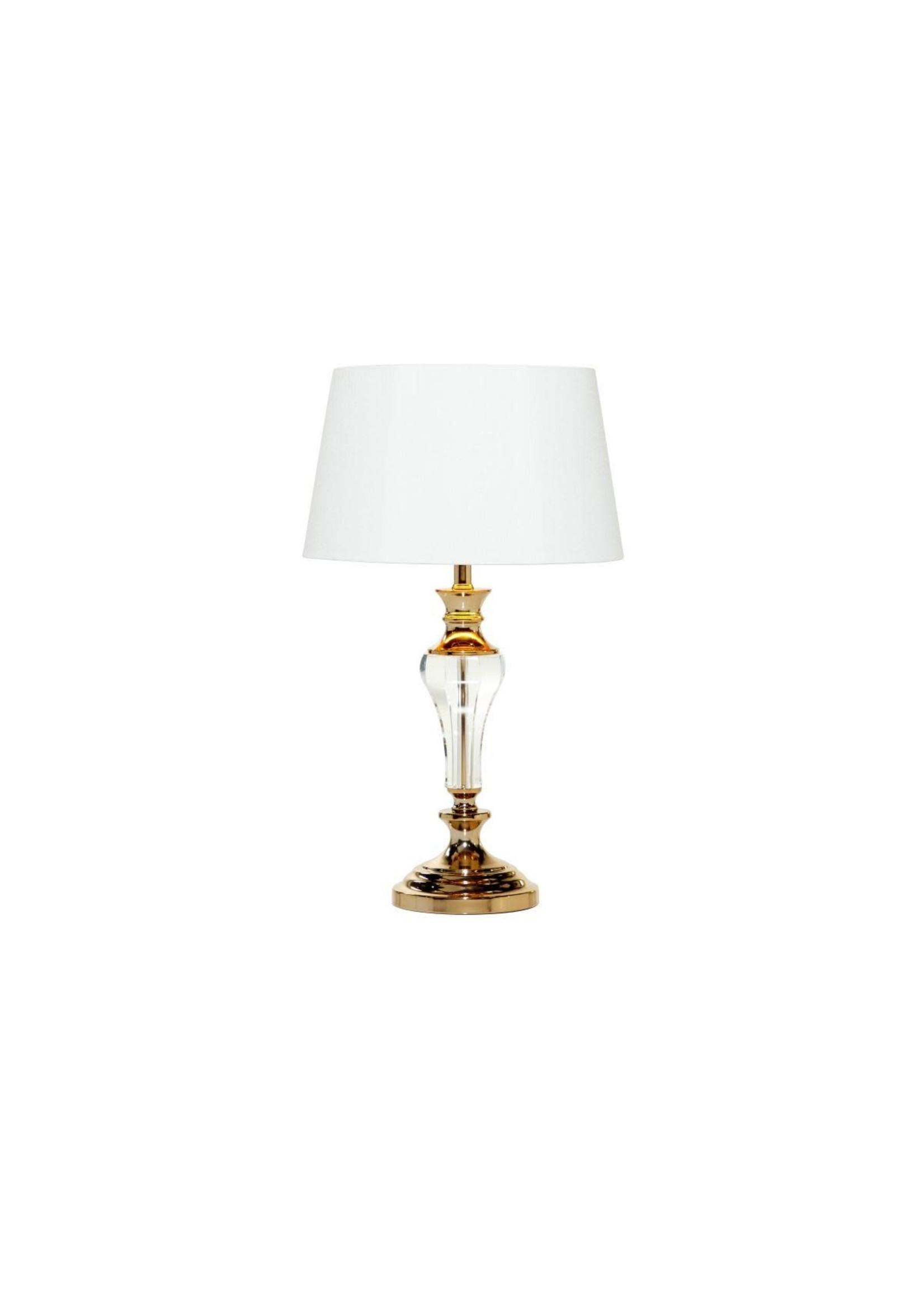 "UMA Enterprises UMA Crystal Metal Table Lamp 15""W 27""H"
