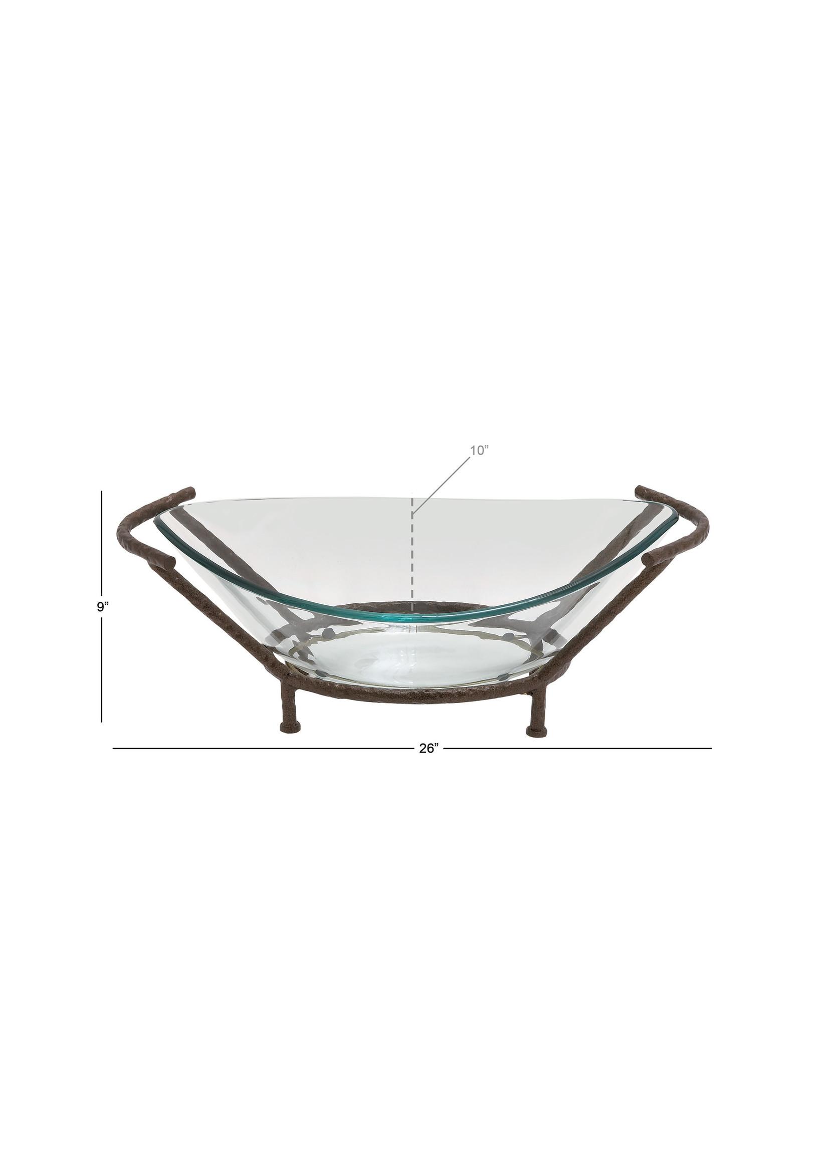 UMA Enterprises UMA Glass Bowl w/Metal Stand