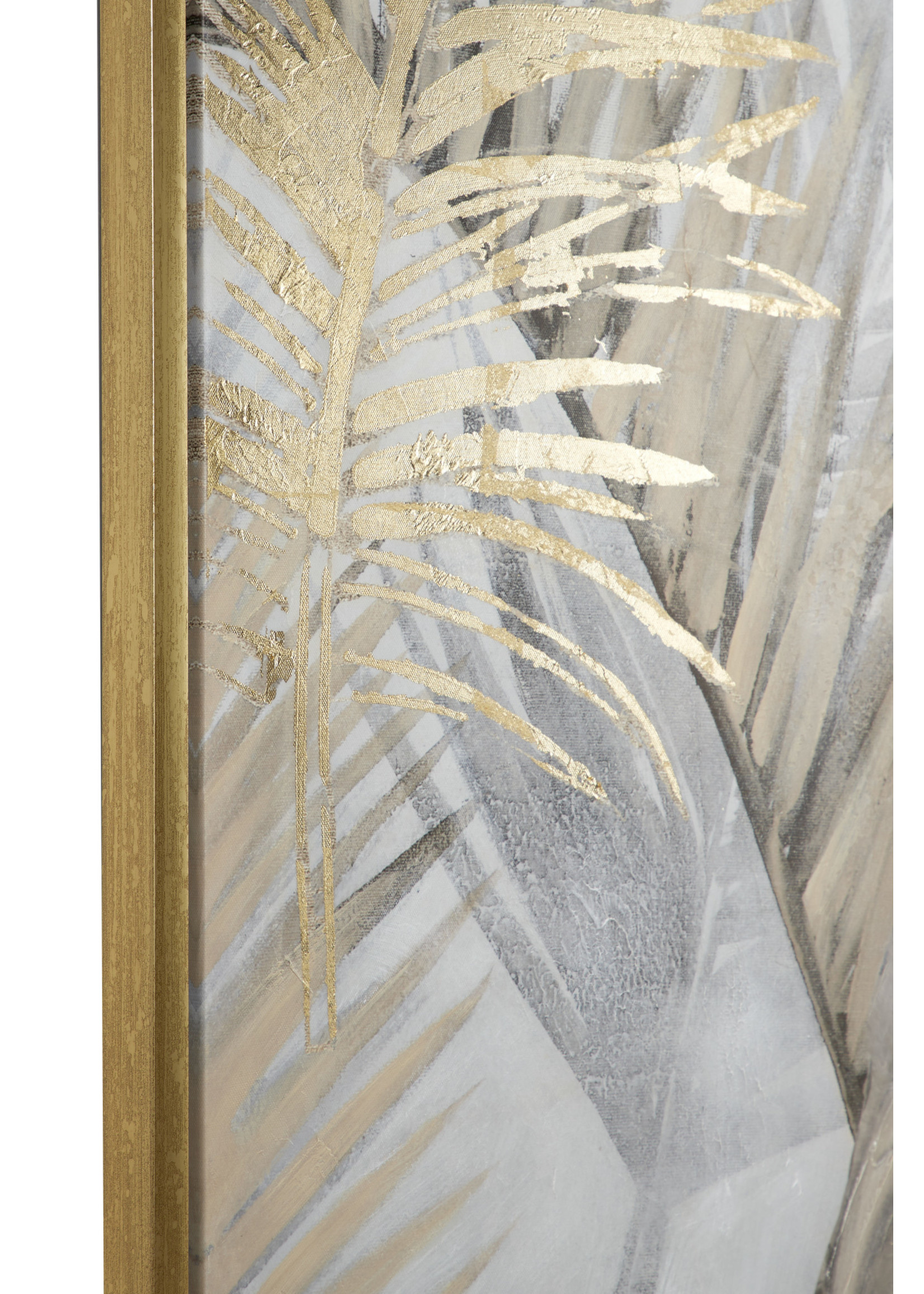 """UMA Enterprises UMA Framed Canvas Palm Leaves 39"""""""