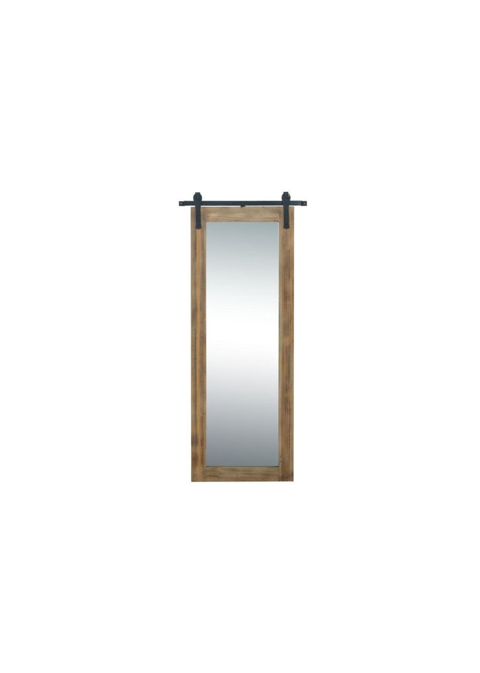 UMA Enterprises UMA Wood Metal Wall Mirror 32x70