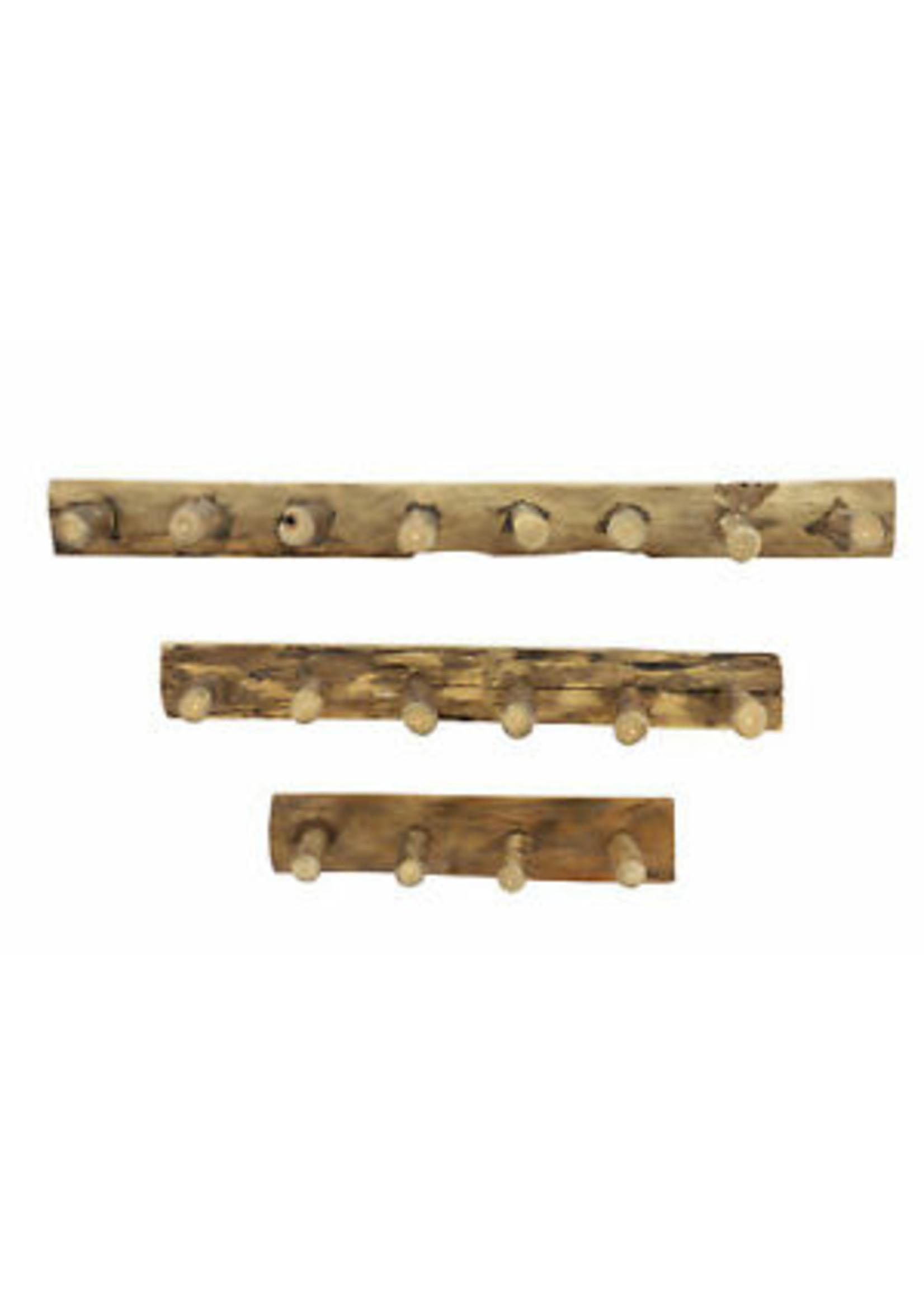 """UMA Enterprises Wood Wall 5 hooks 24"""" Medium"""