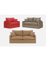 Overnight Sofa ONS Full Size Sleeper Sofa Braxton Fog Grey