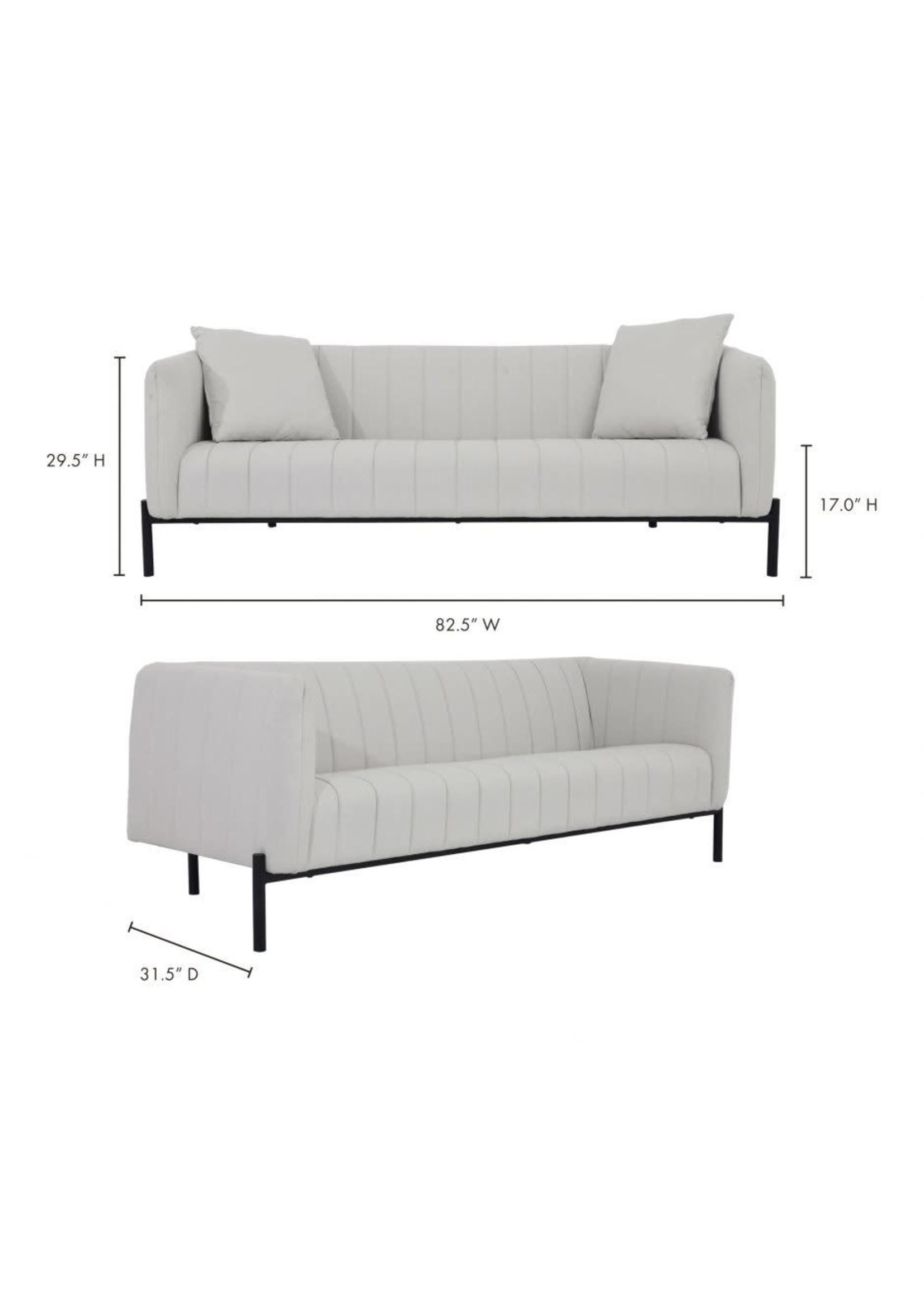 Moes Home Collection MOES Jaxon Sofa Light Grey