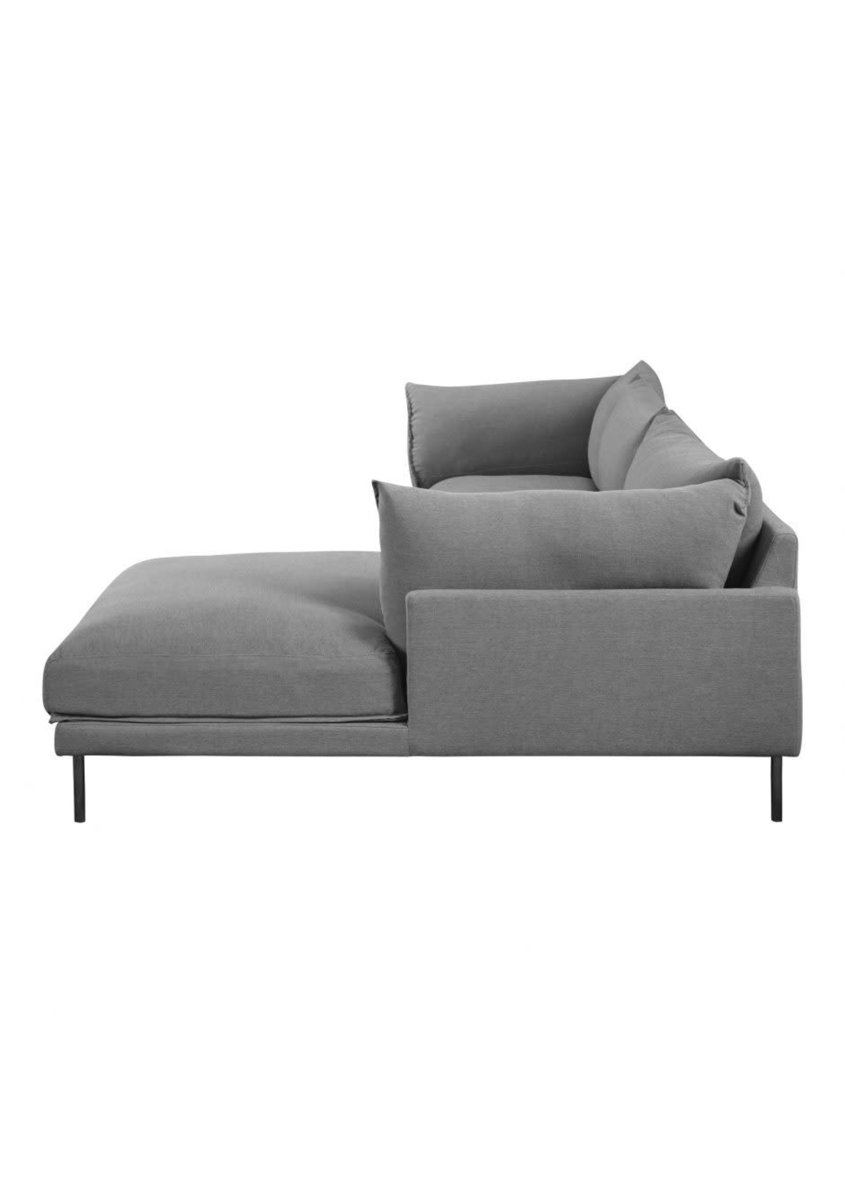 Moes Home Collection MOES Jamara Sectional Charcoal Grey Right