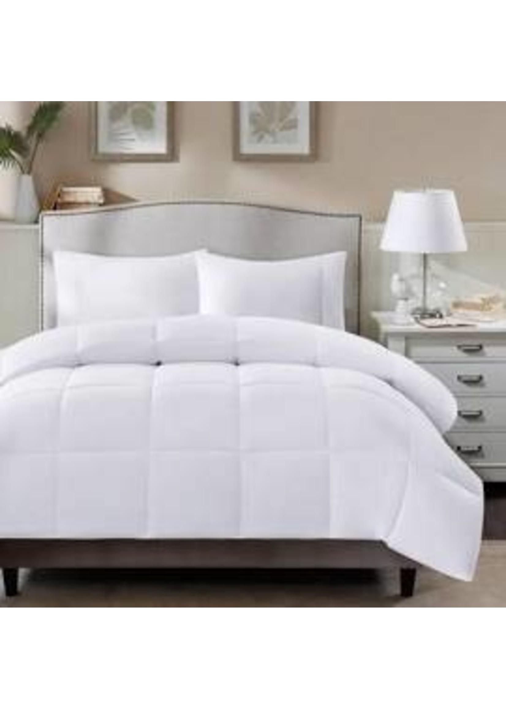 Olliix MP10-1250 OLLIIX Northfield All Season Stain Release 3M Cotton Twill Supreme Down Blend Comforter White QUEEN