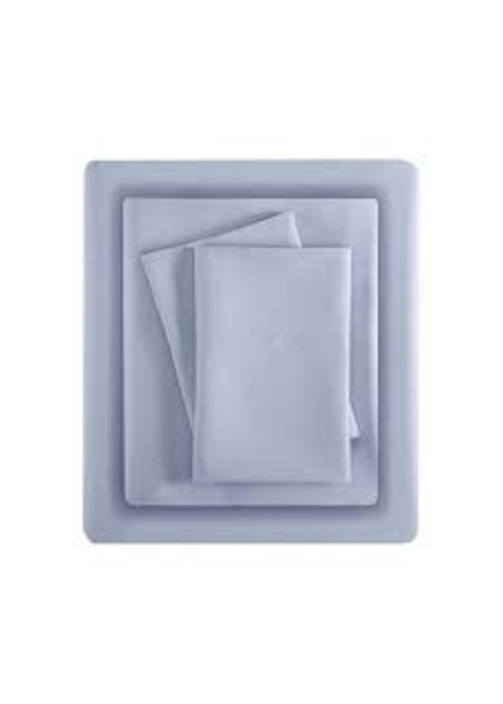 Olliix All Season Moisture Wicking Sheet Set Blue Queen