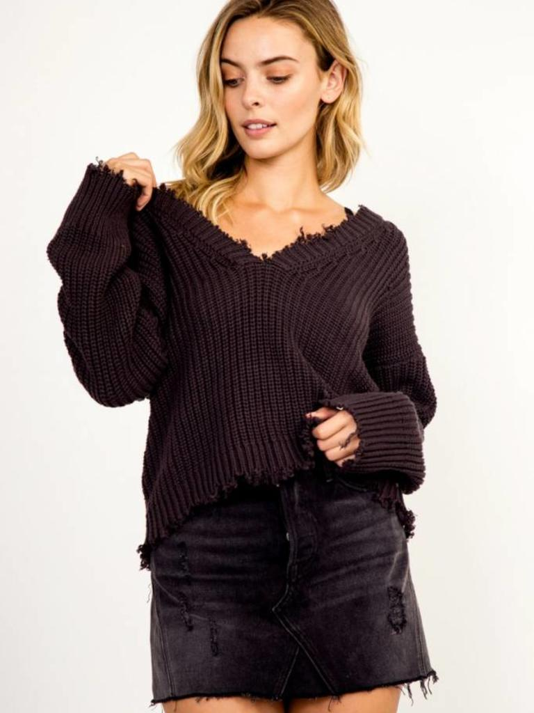 748f8cf8215510 Todd Distressed Sweater - Verbena