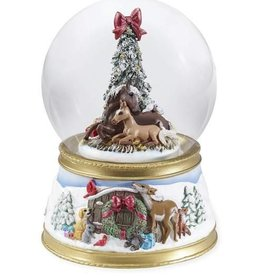 Breyer Breyer The Gift of Love Musical Holiday Snow Globe 2018
