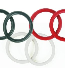 Rubber Peacock Bands - Black
