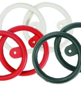 Eco Pure Rubber Peacock Rings with Tab - Black