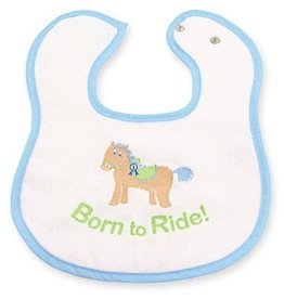 "G.T. Reid Baby ""Born To Ride"" Bib"