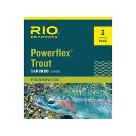 Rio RIO POWERFLEX TROUT LEADERS -    3 PACK