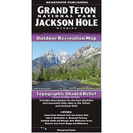 Beartooth Publishing Beartooth Map - Grand Teton Natl. Park & Jackson Hole