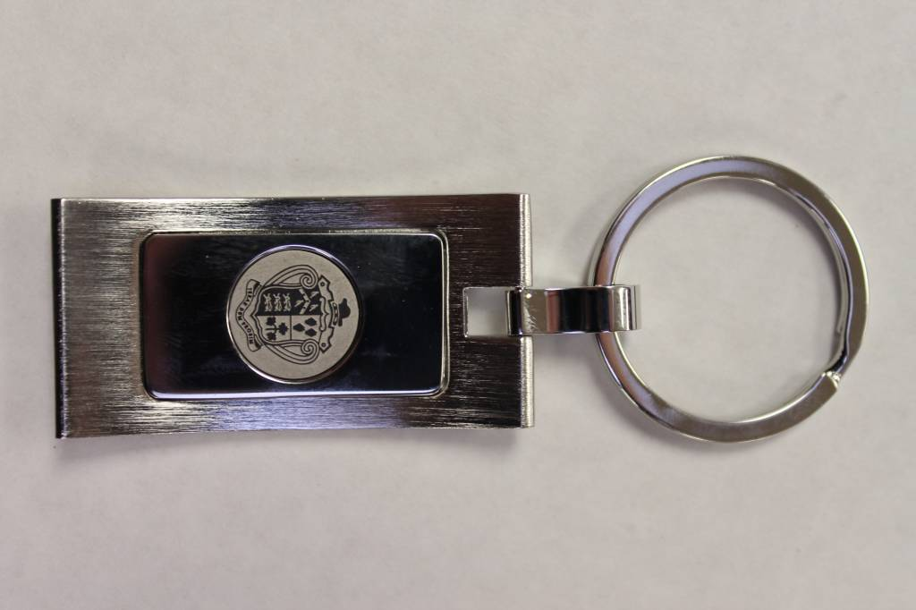 KEY RING CRESTED - CURVED