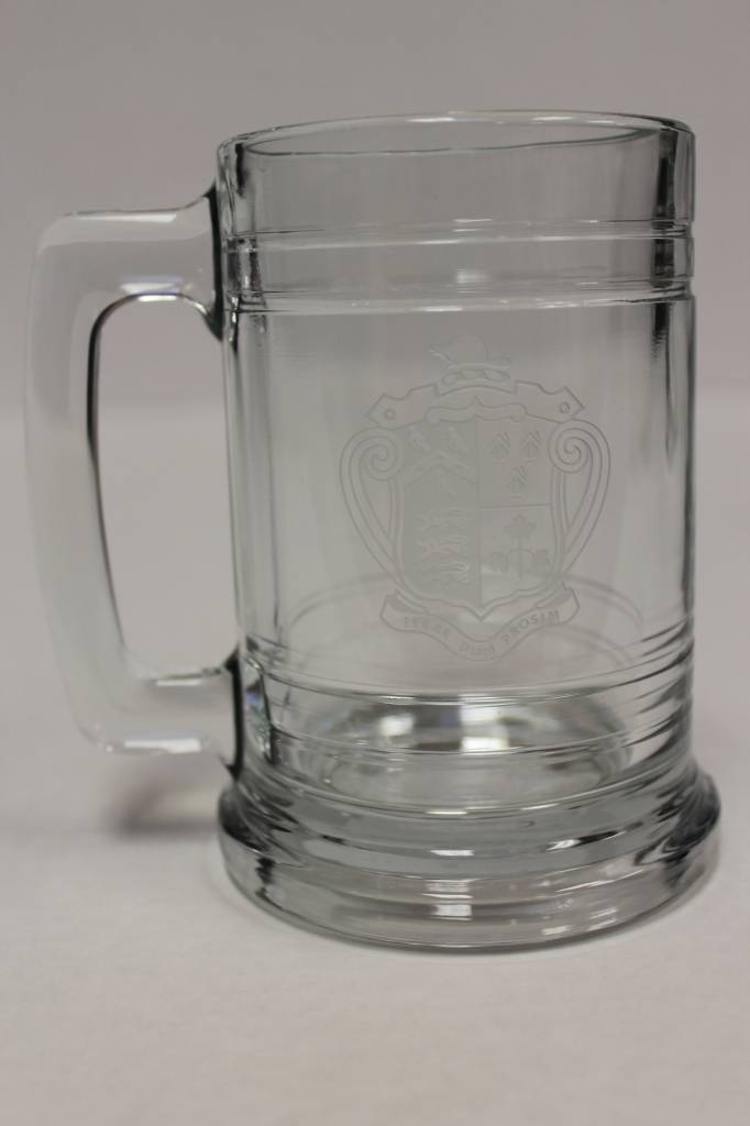 15oz Etched Glass Stein