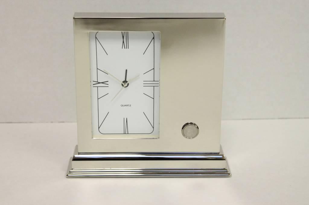Desk Clock - Silver