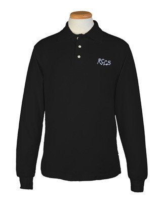 Long Sleeve Polo - Black - Lower School -youth sizes