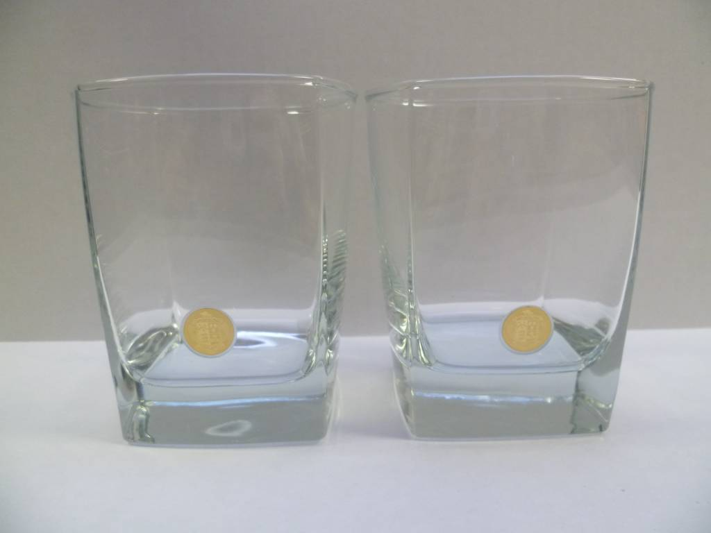 GLASSES OLD FASHION SET OF 2 (C200-G)