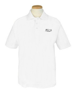 Short Sleeve Polo - White - Adult sizes