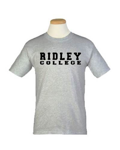 Grey Ridley College T-shirt (Adult Sizes)