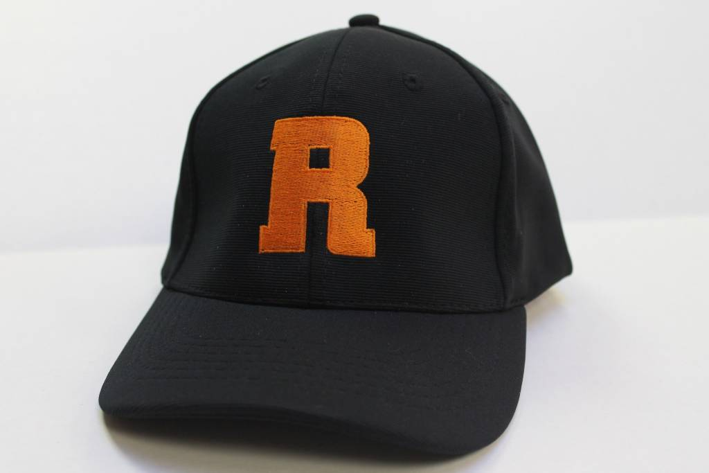Ball Cap with Orange R